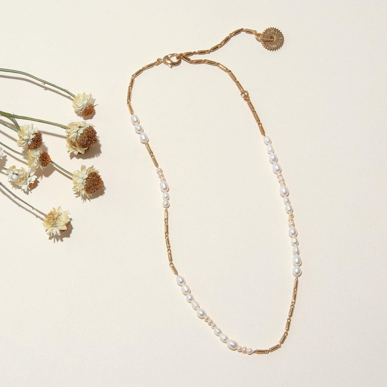 Elinore Pearl Necklace White Gold