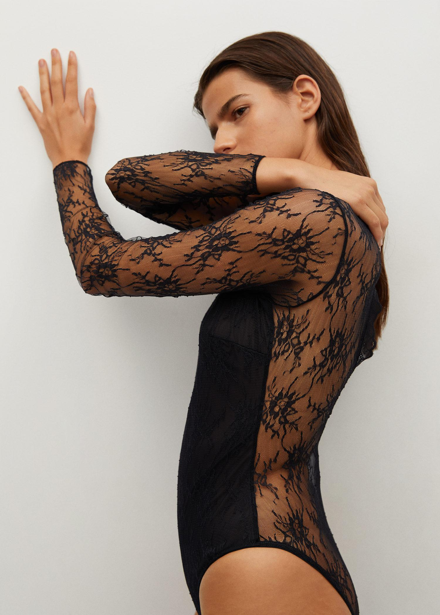 Short-sleeved lace body 5