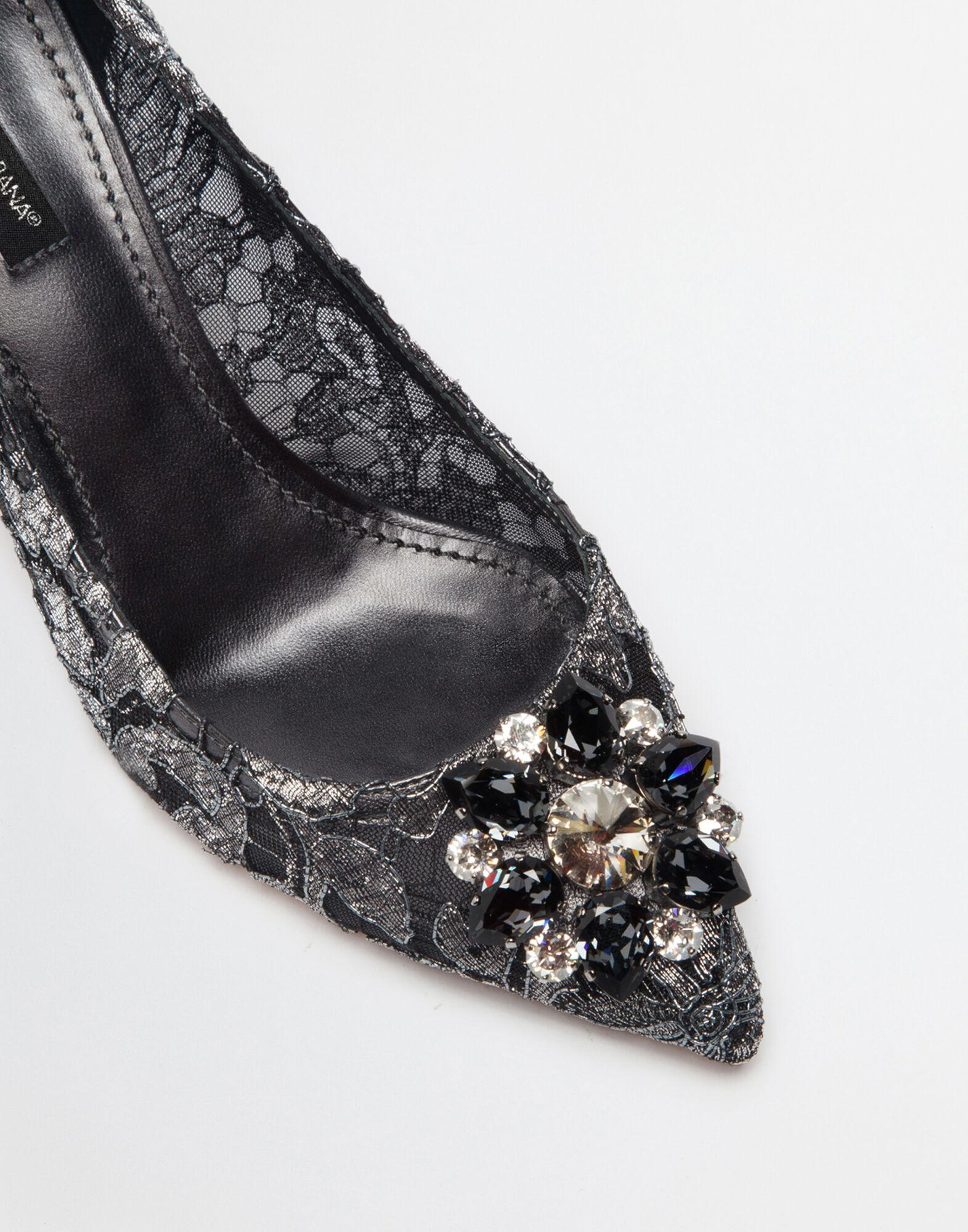Pump in Taormina lurex lace with crystals 1