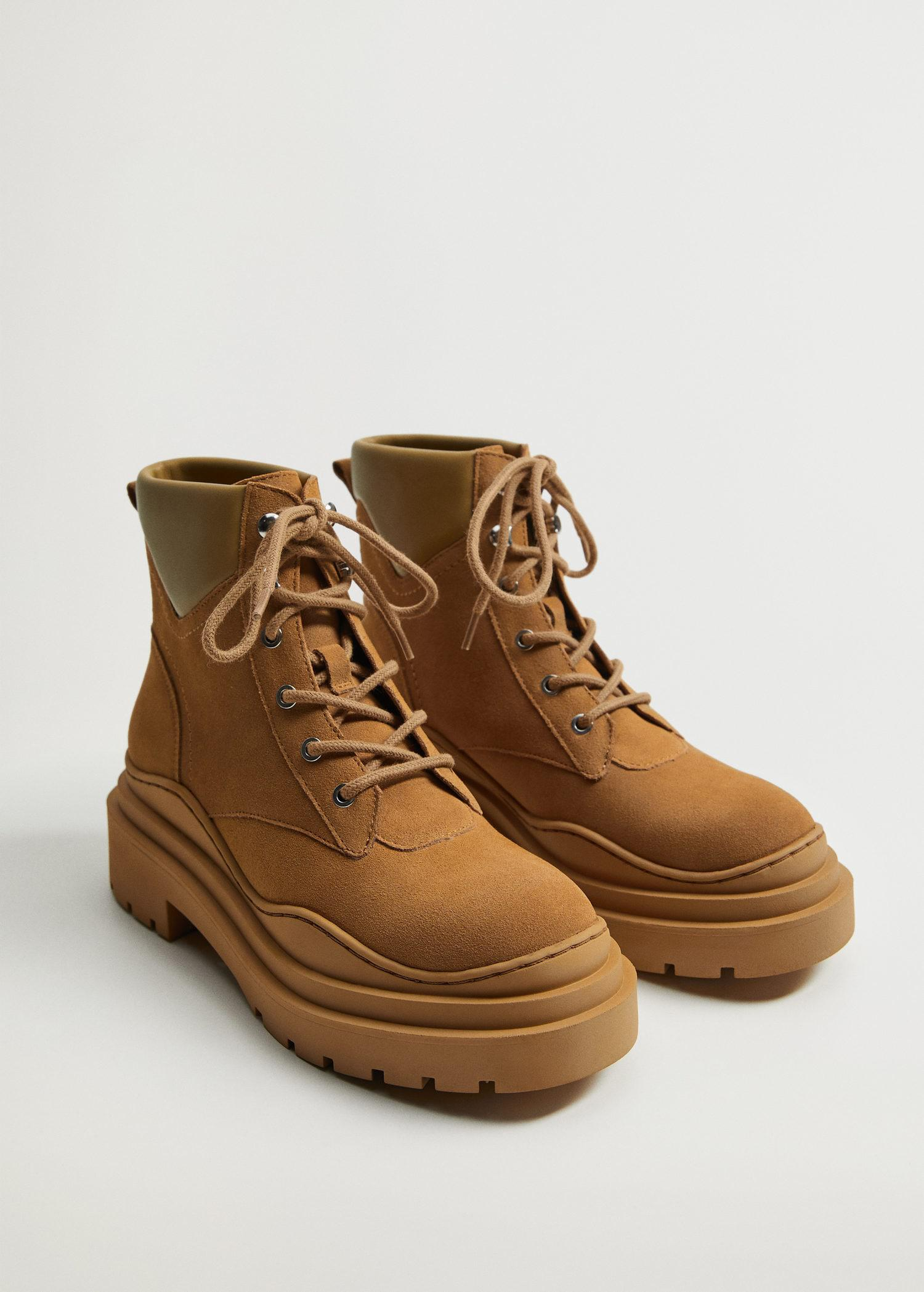 Lace-up track sole boots 1