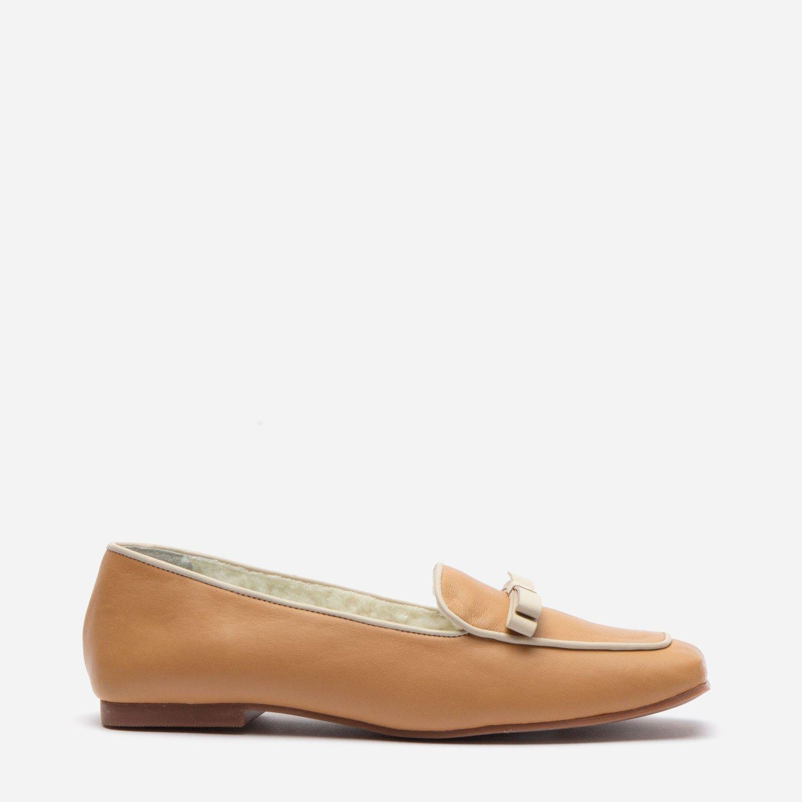 Suzanne Cozy Loafer Nappa Faux Shearling Camel