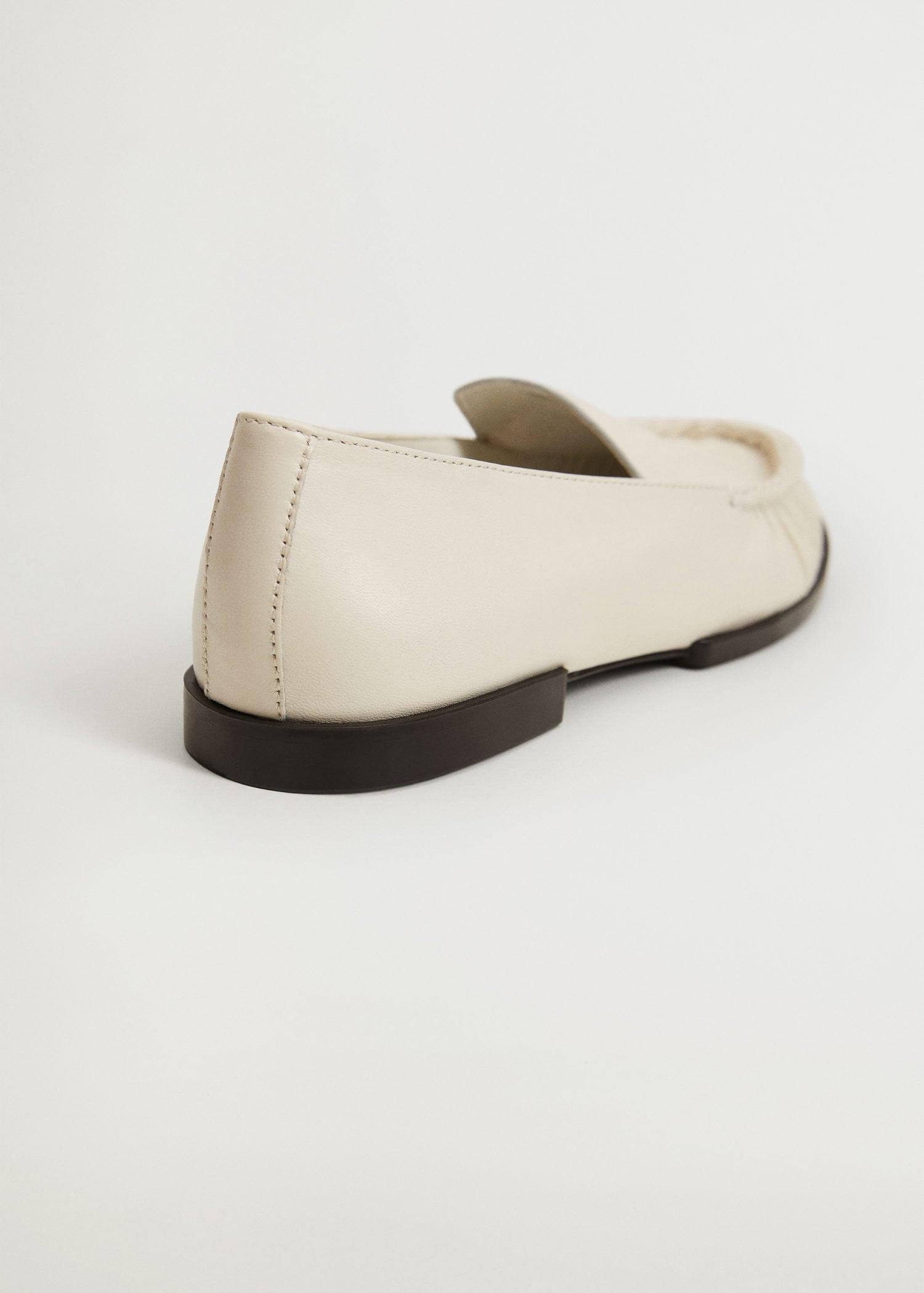 Gathered leather moccasin 3