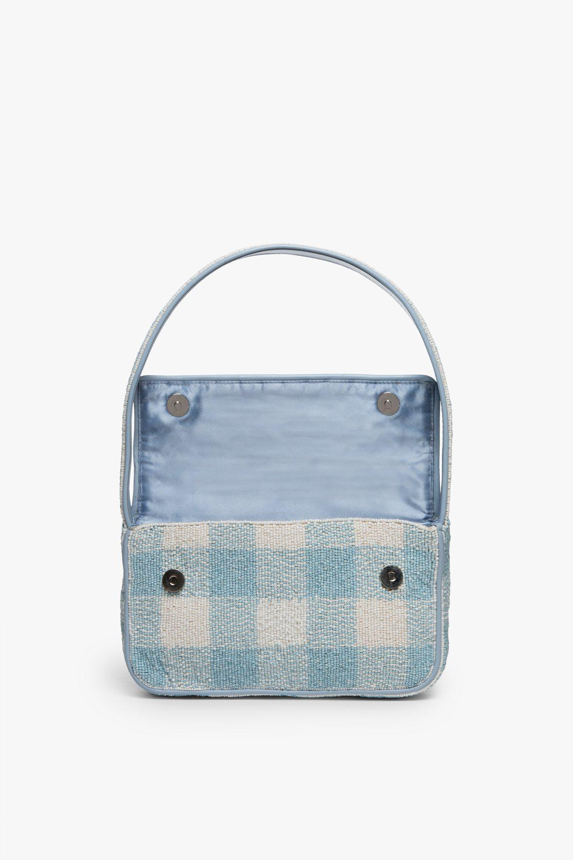 TOMMY BEADED BAG   ARCTIC BLUE WHITE 5