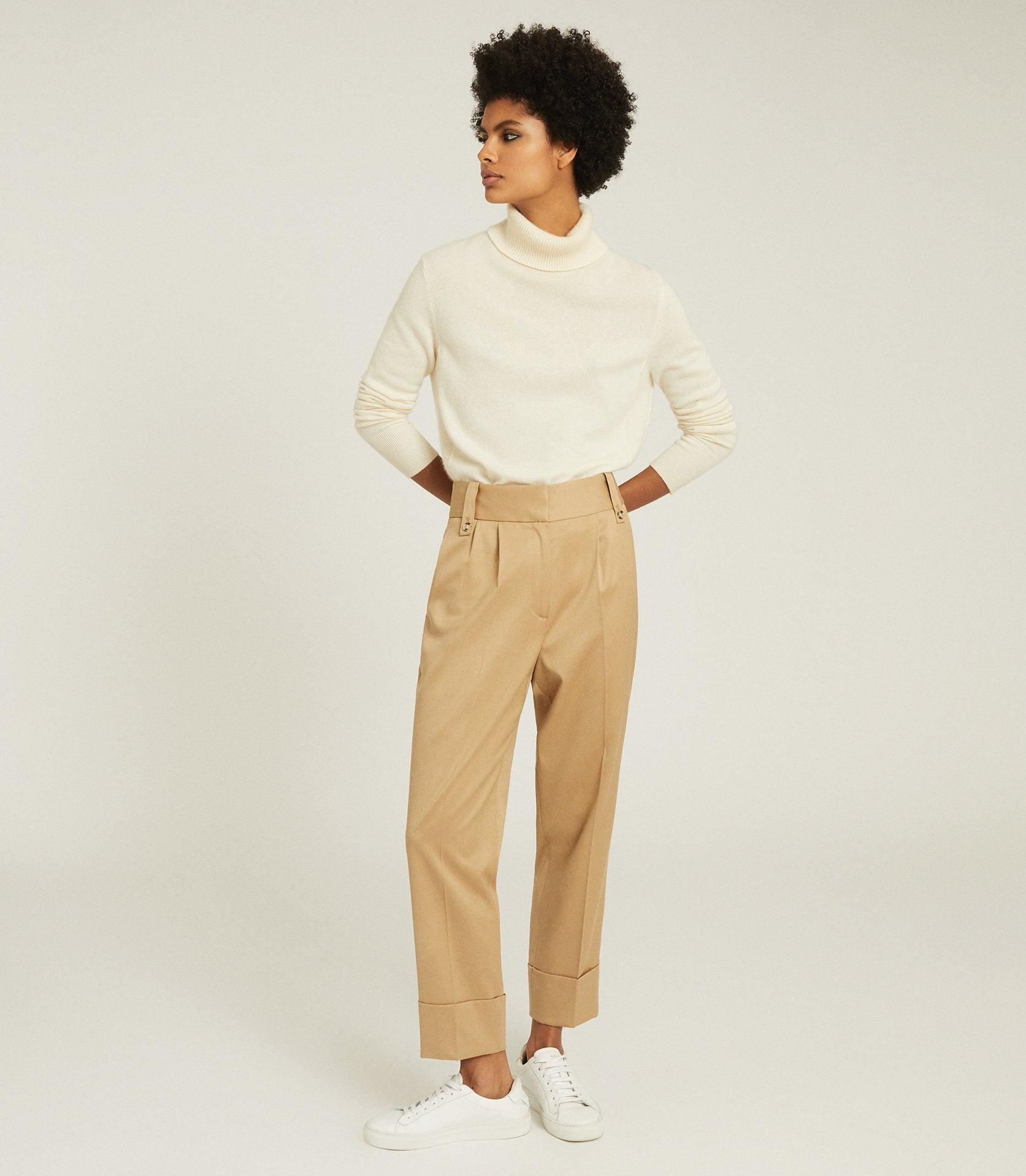 MAE - WOOL BLEND PLEAT FRONT TROUSERS