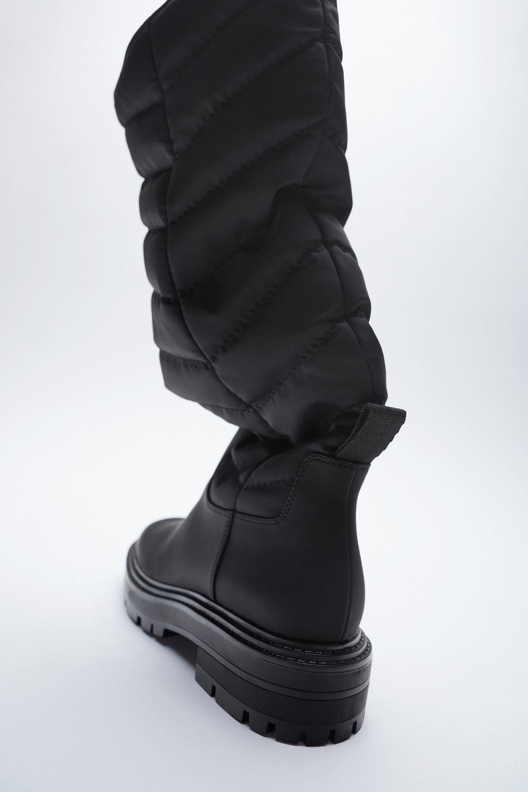 LOW HEEL QUILTED TALL BOOTS 2