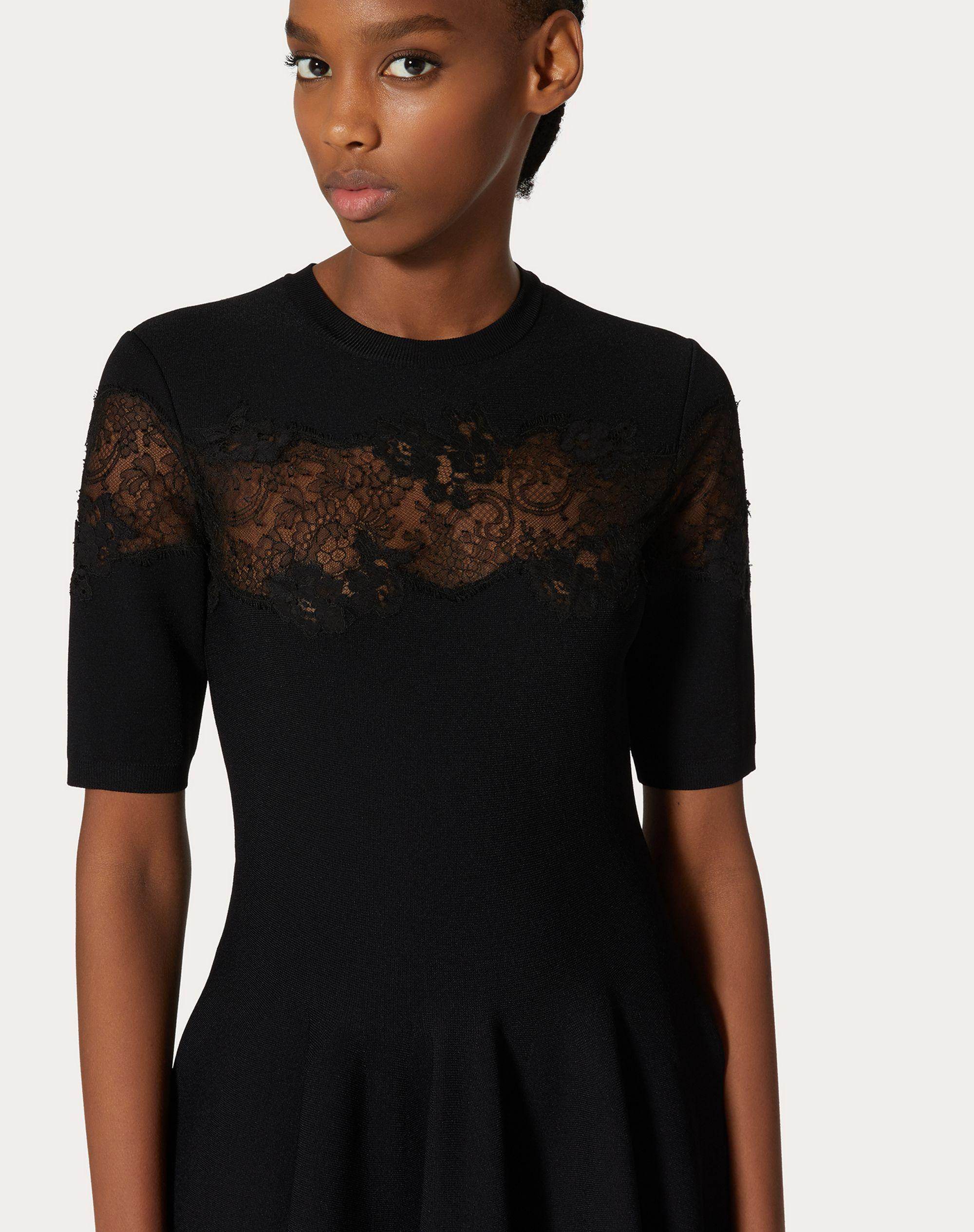 JERSEY DRESS IN STRETCHED VISCOSE AND LACE 3