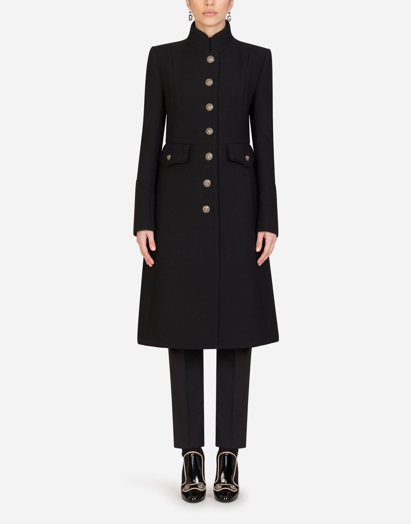 Woolen jacket with decorative buttons