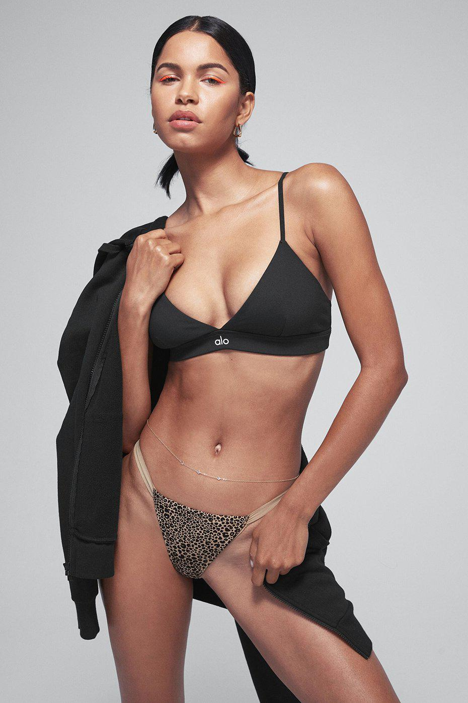 LEOPARD AIRBRUSH INVISIBLE STRING THONG