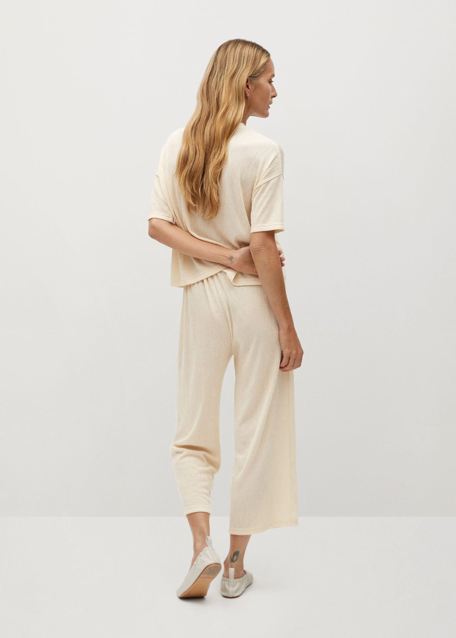 Pleated culotte trousers 2