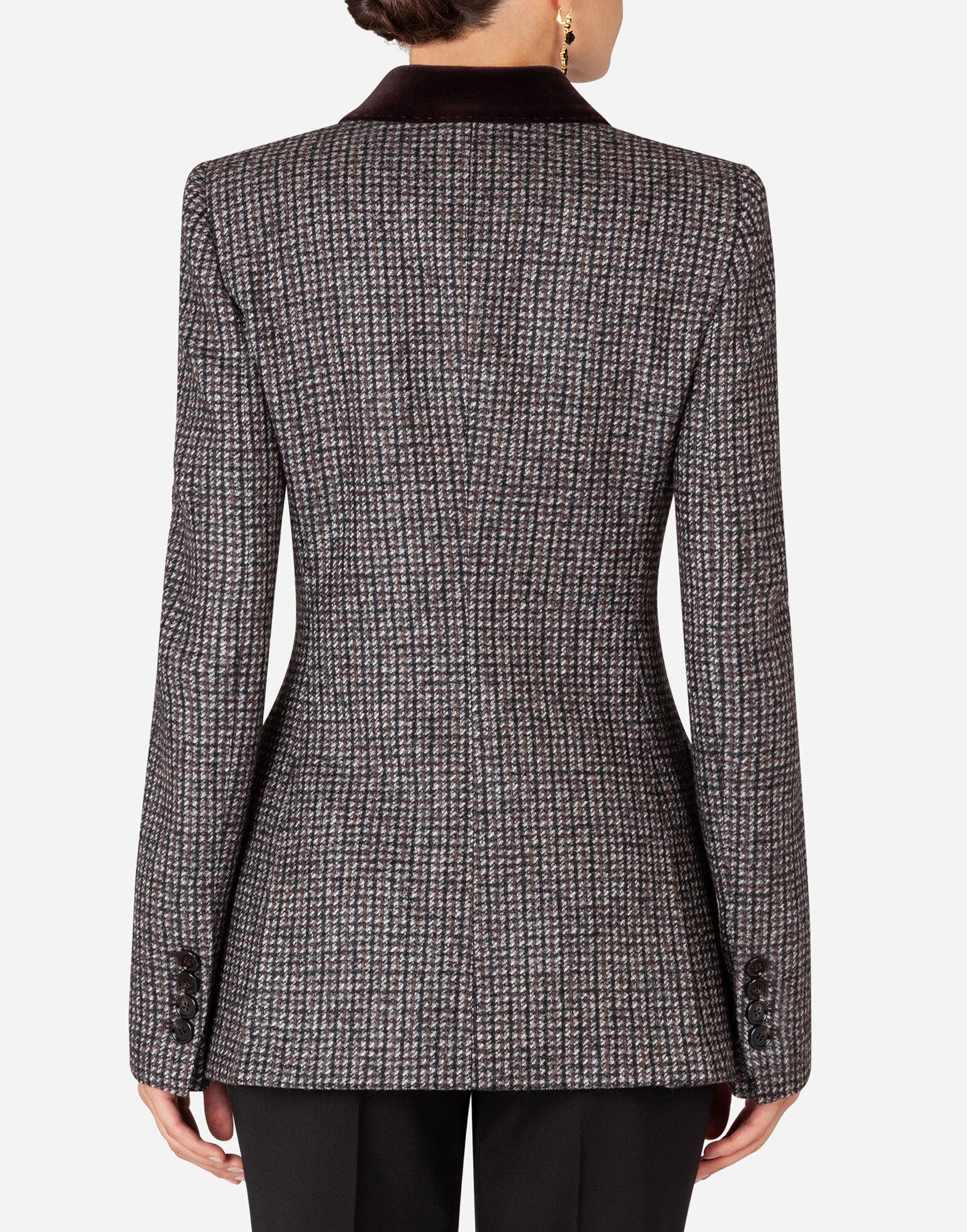 Double-breasted tweed blazer 1