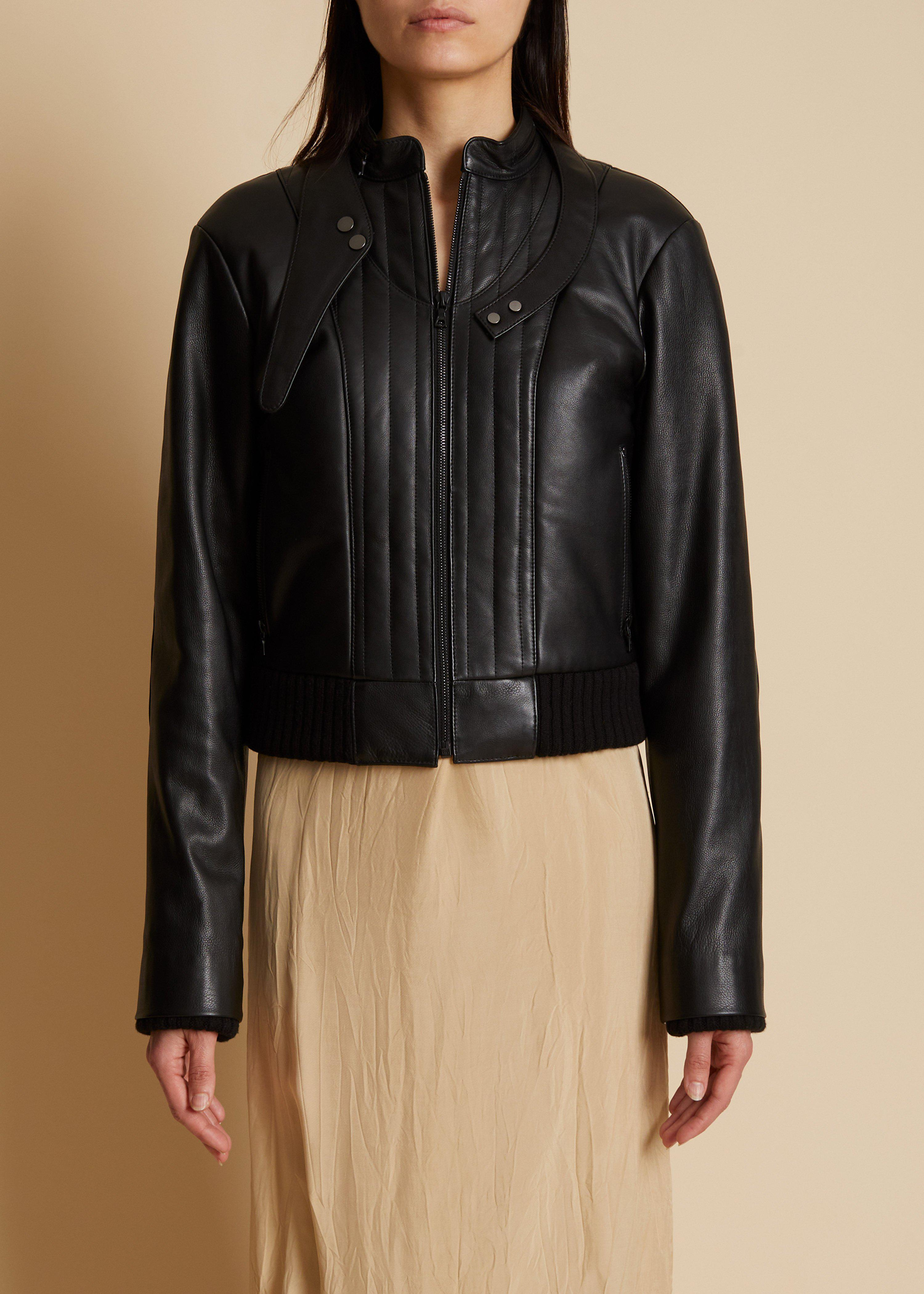 The Nicolette Jacket in Black Leather 1