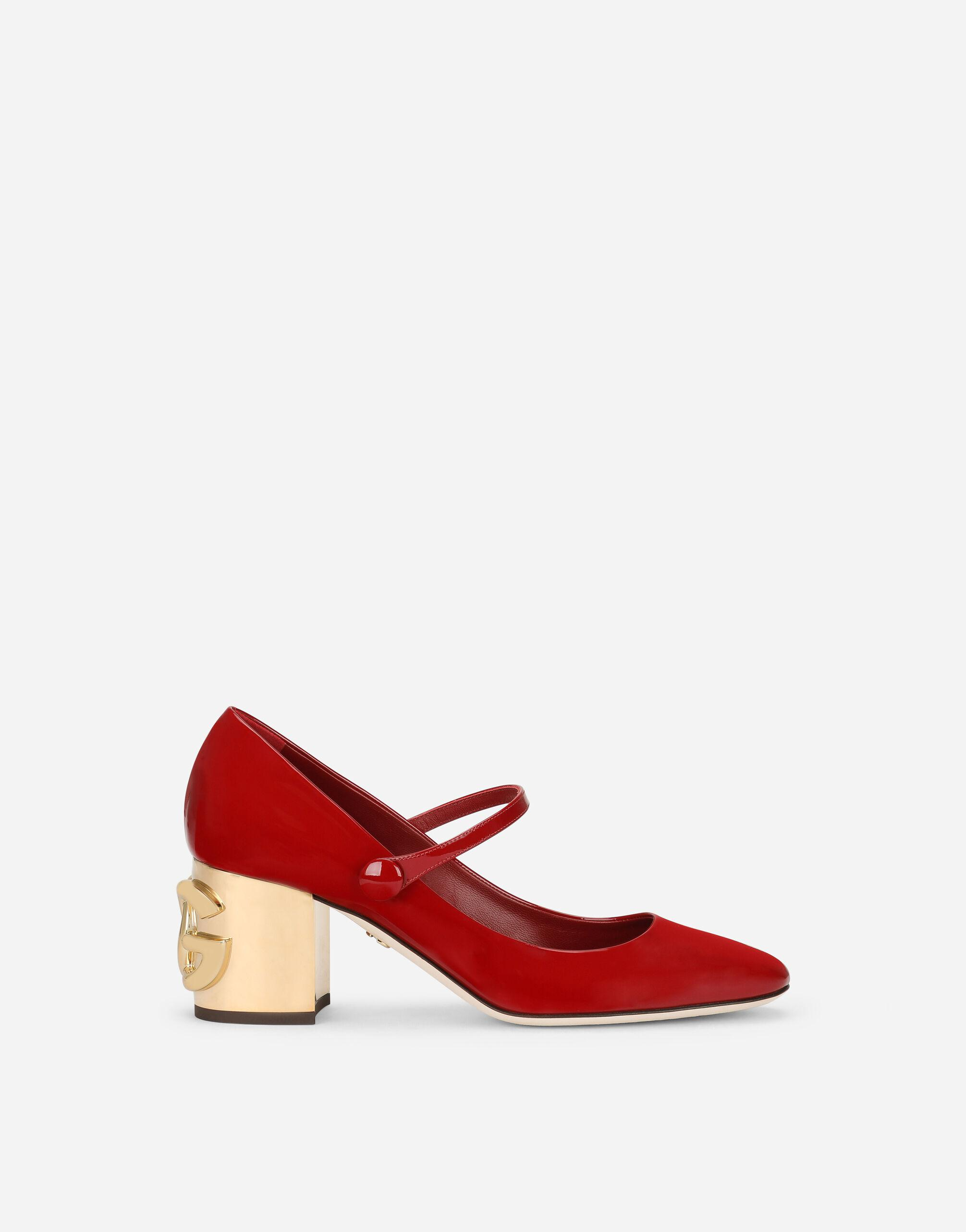 Patent leather Mary Janes with DG Karol heel