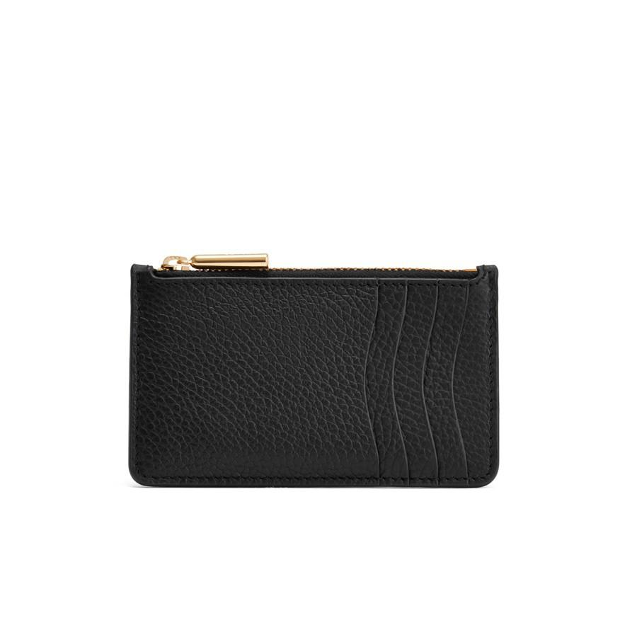 Women's Zip Cardholder in Black | Pebbled Leather by Cuyana