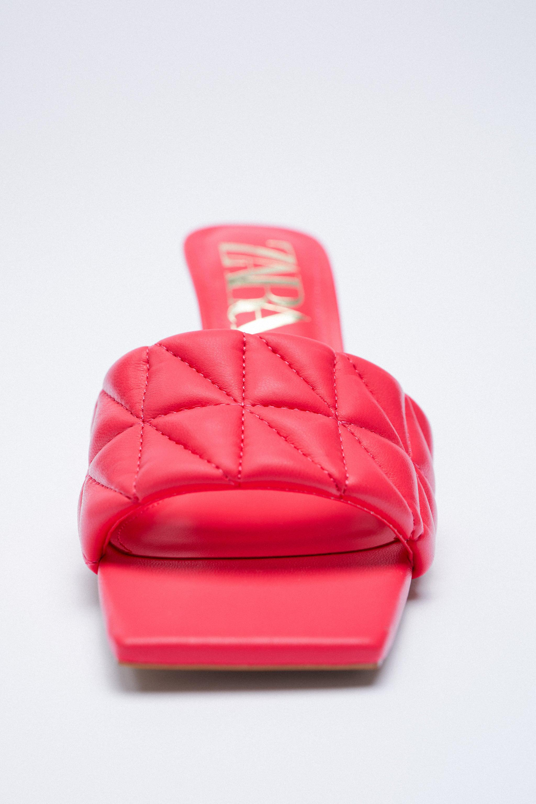 HEELED QUILTED SANDALS 4