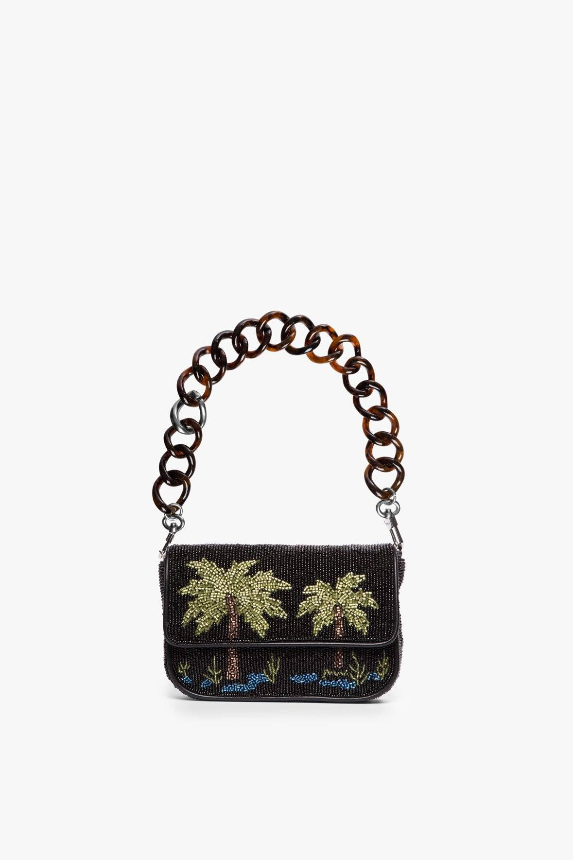 MINI TOMMY BEADED CHAIN BAG | PALM