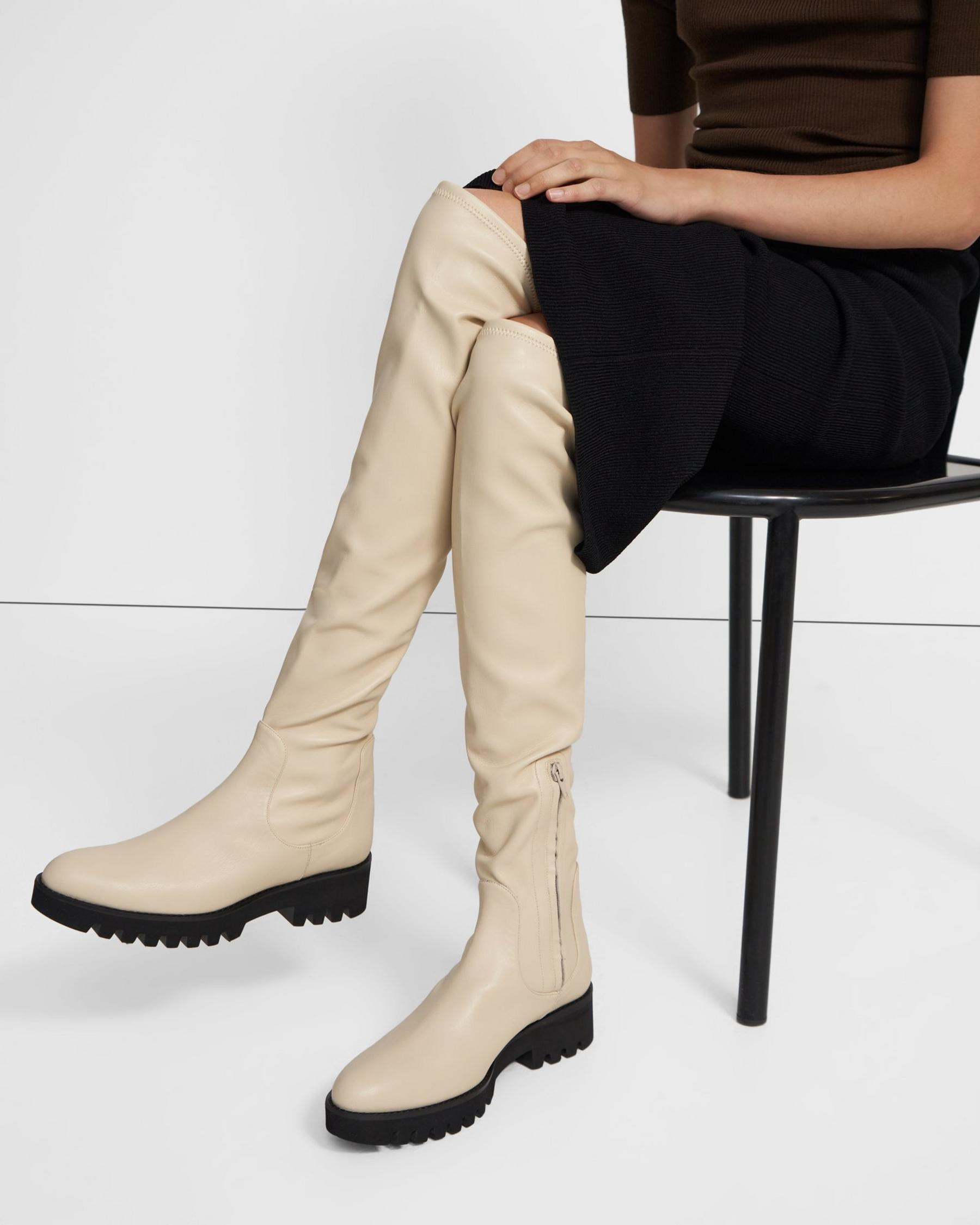 Over-The-Knee Boot in Faux Leather