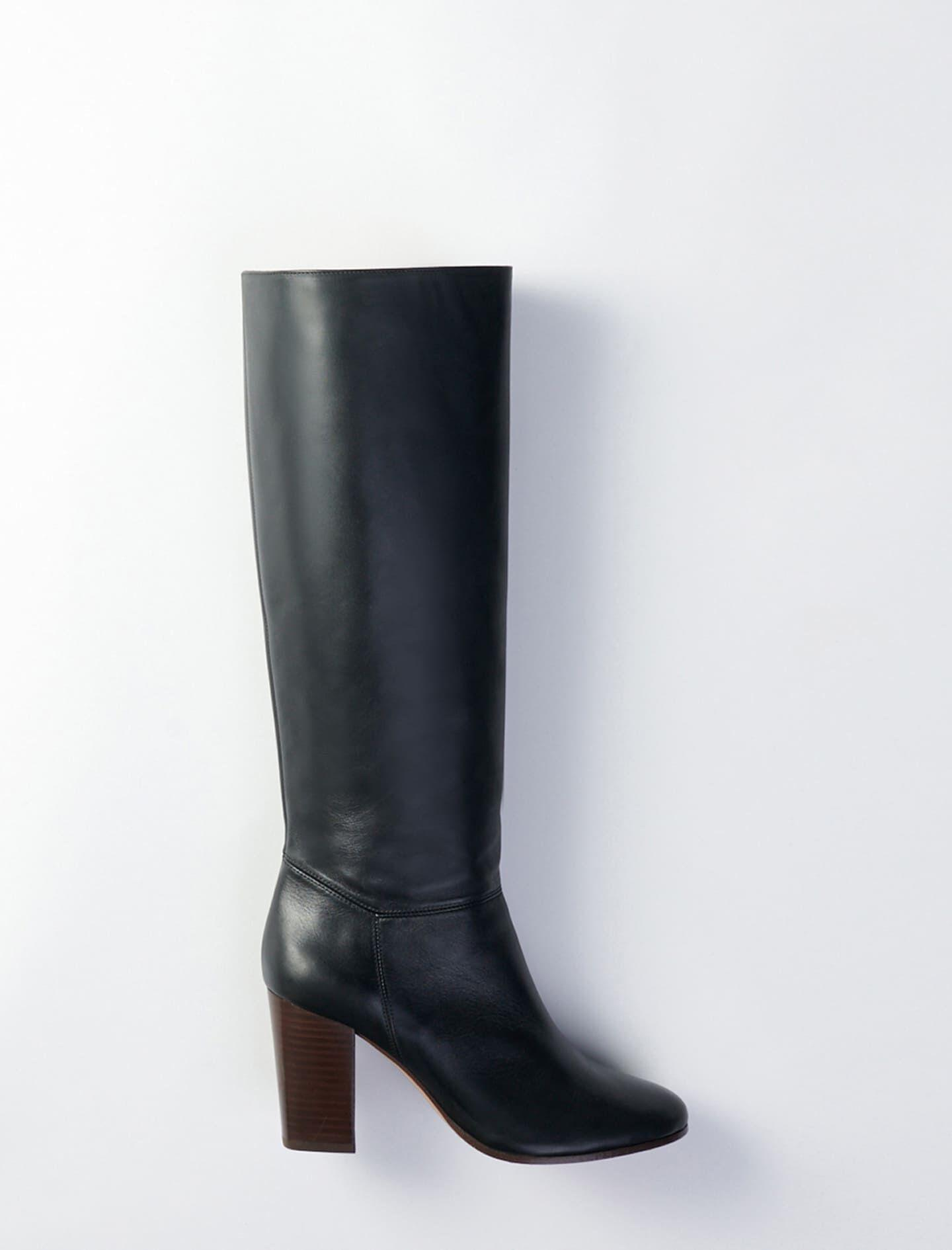 HEELED SMOOTH LEATHER BOOTS