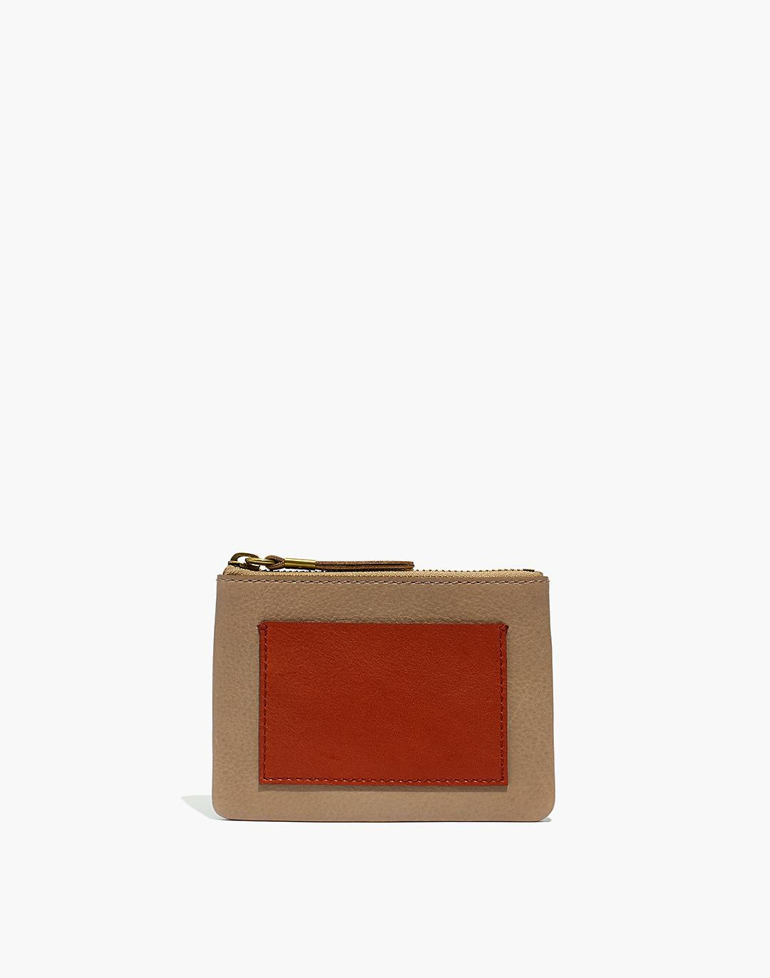 The Leather Pocket Pouch Wallet in Colorblock