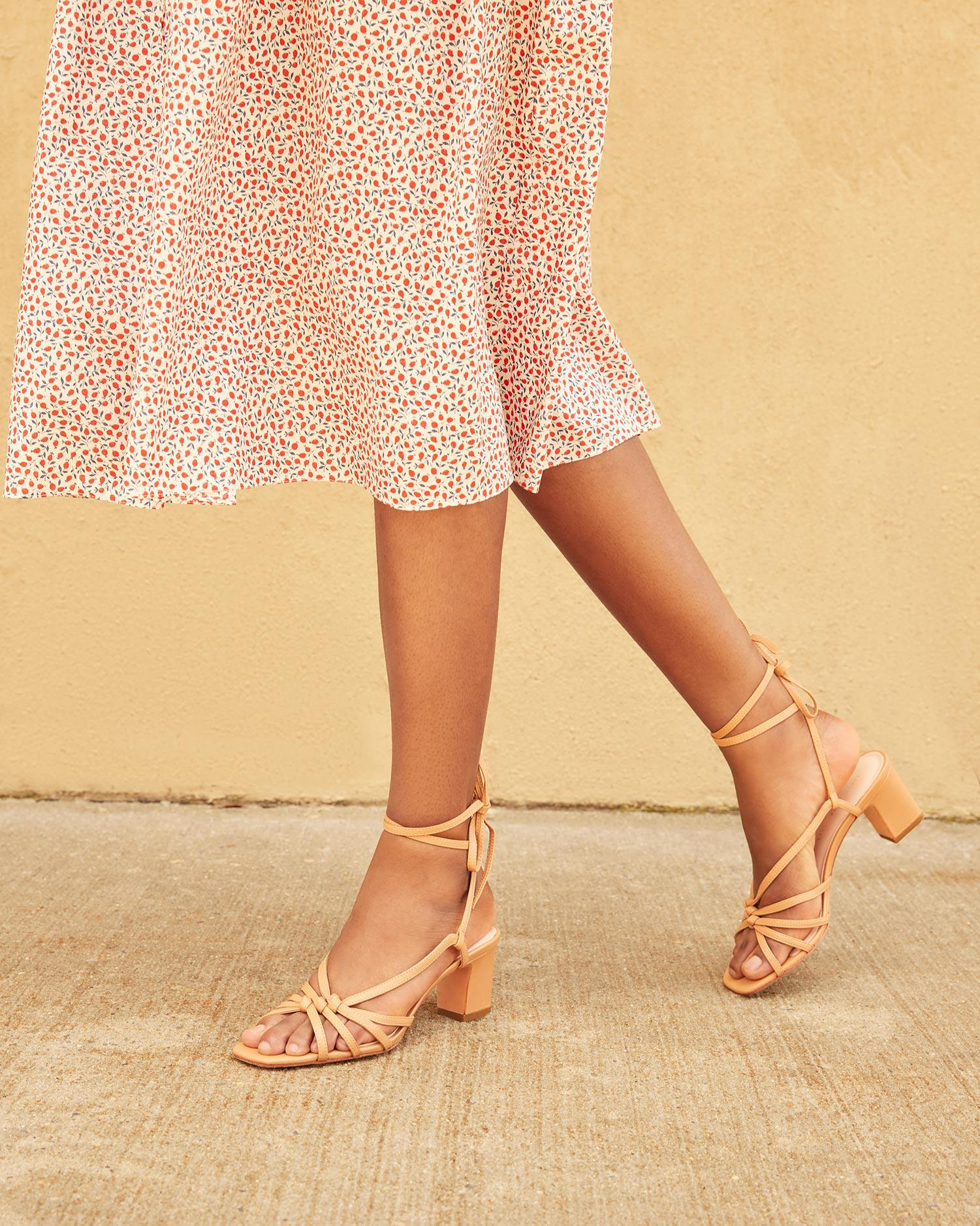 Libby Knotted Wrap Sandal Dune 5