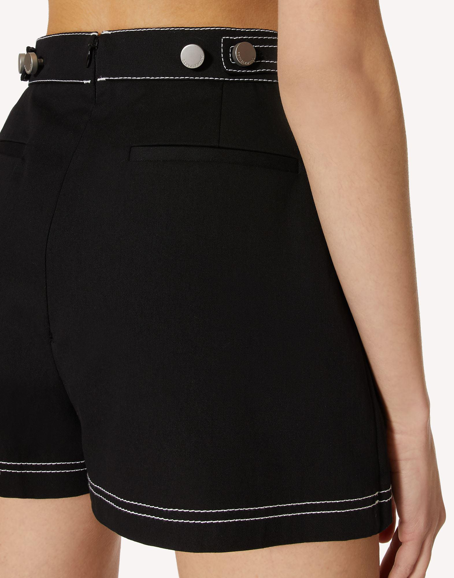 STRETCH GABARDINE SHORTS WITH CONTRASTING STITCHING DETAIL 3