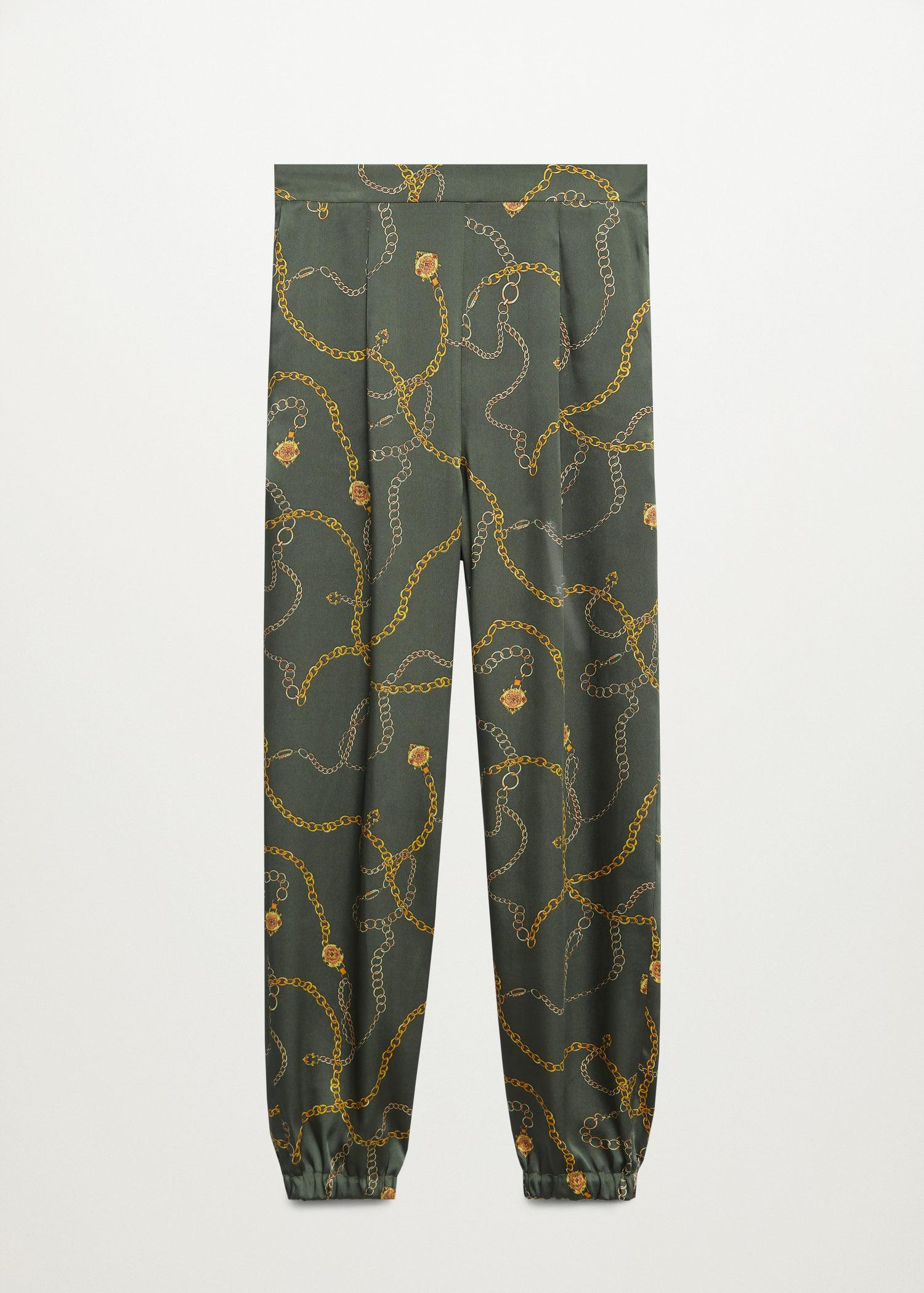 Satin-finish pants with pleat detail 5
