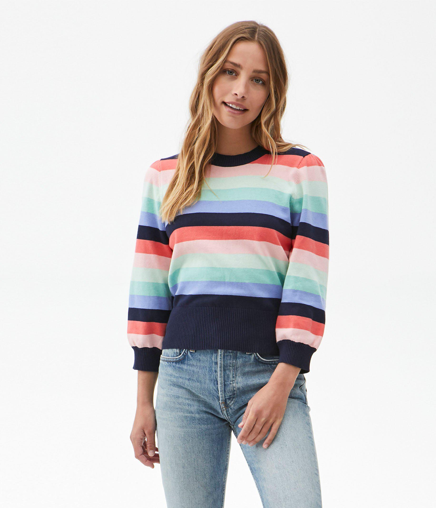 Dolly Striped Puff Sleeve Sweater 1