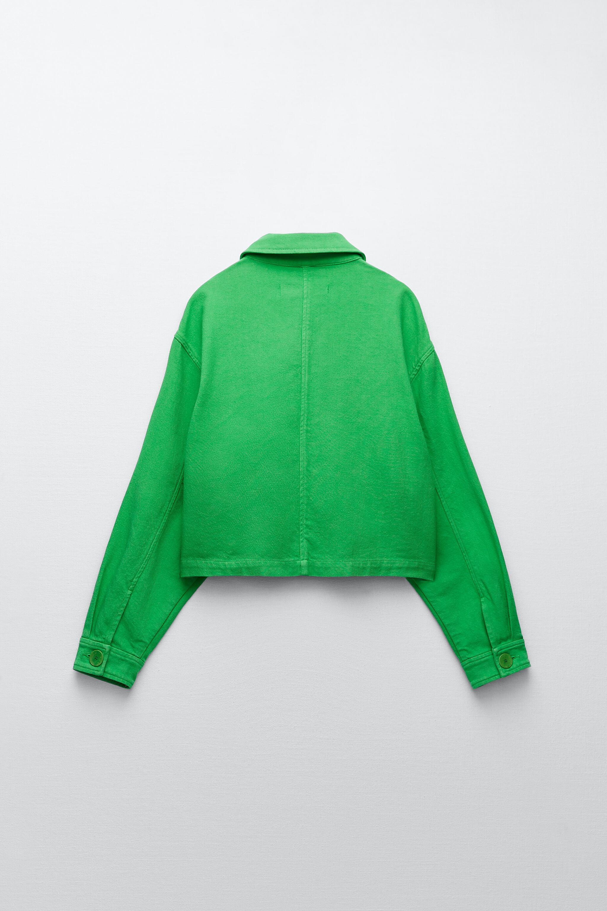 SOLID COLOR CROPPED JACKET 7