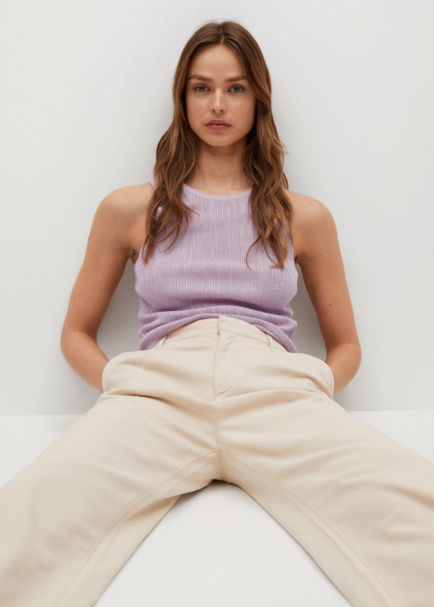 Embossed knit top 3