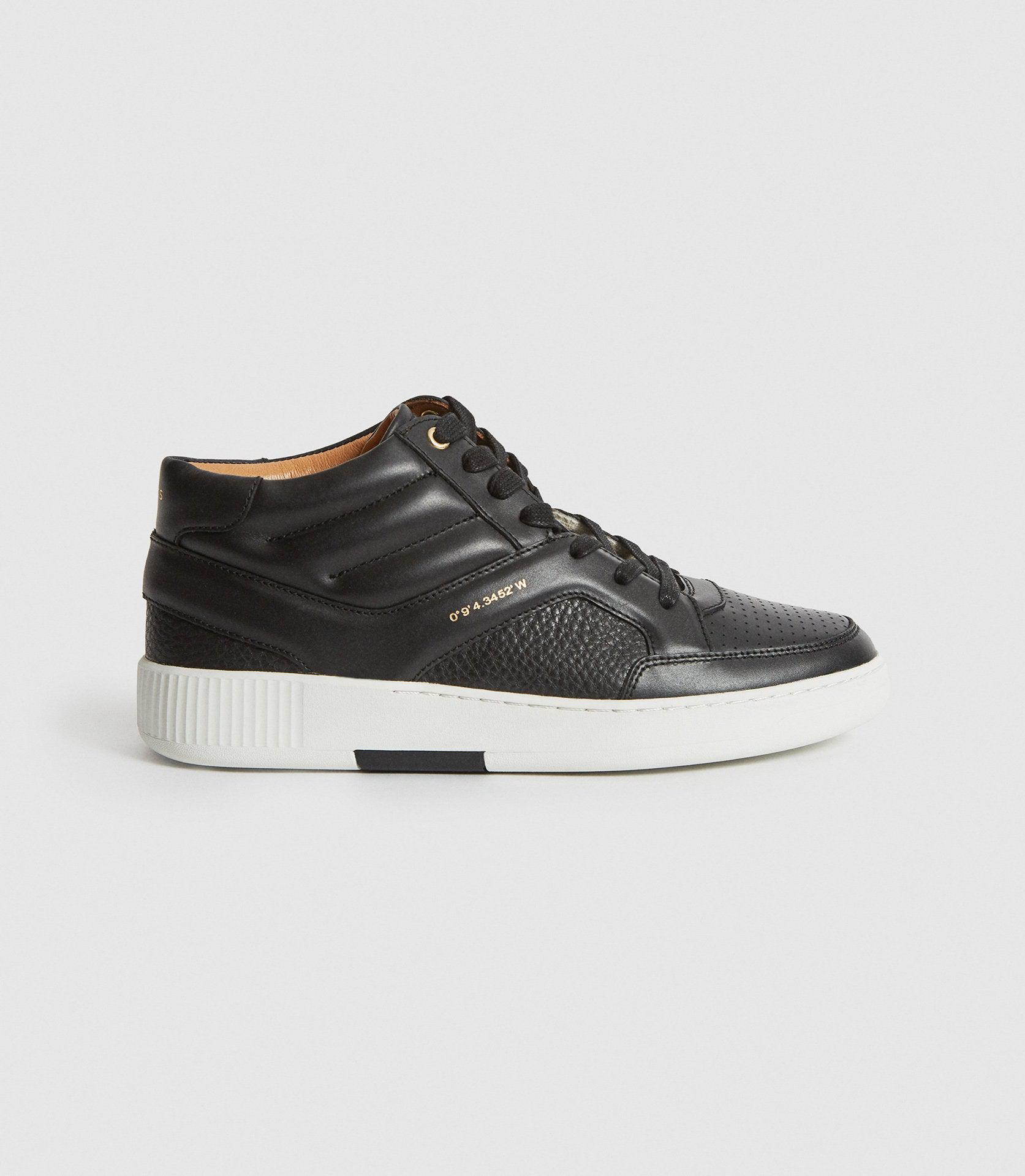 GRENDON - LEATHER HIGH-TOP TRAINERS
