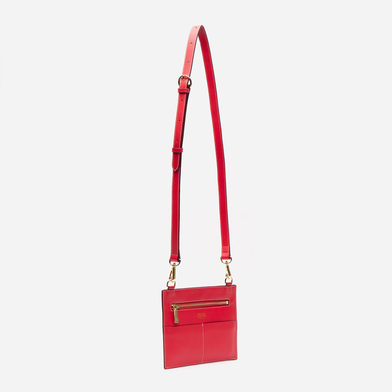 Small Chloe Tumbled Leather Red 2
