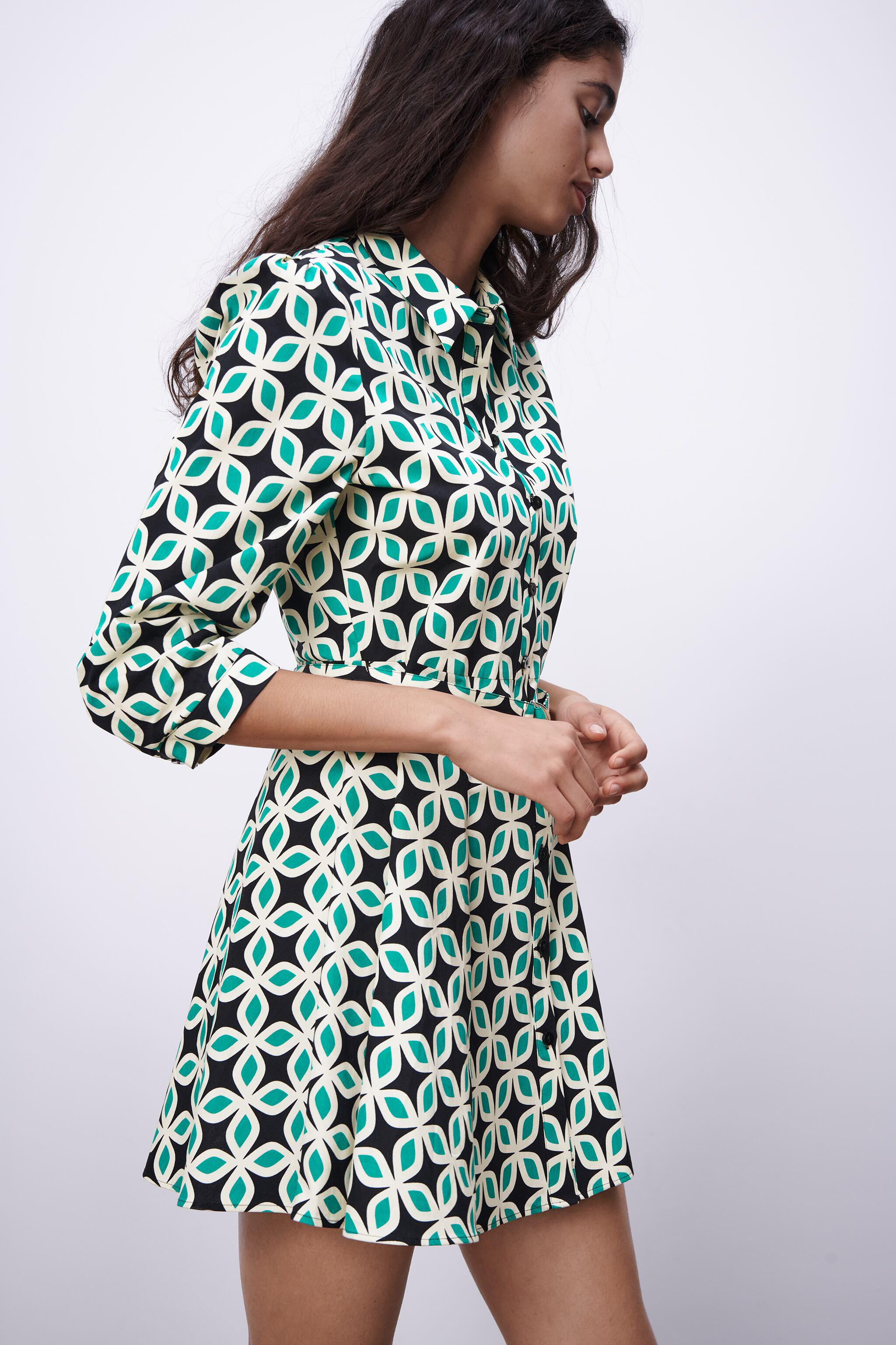PRINTED DRESS WITH BELT 3