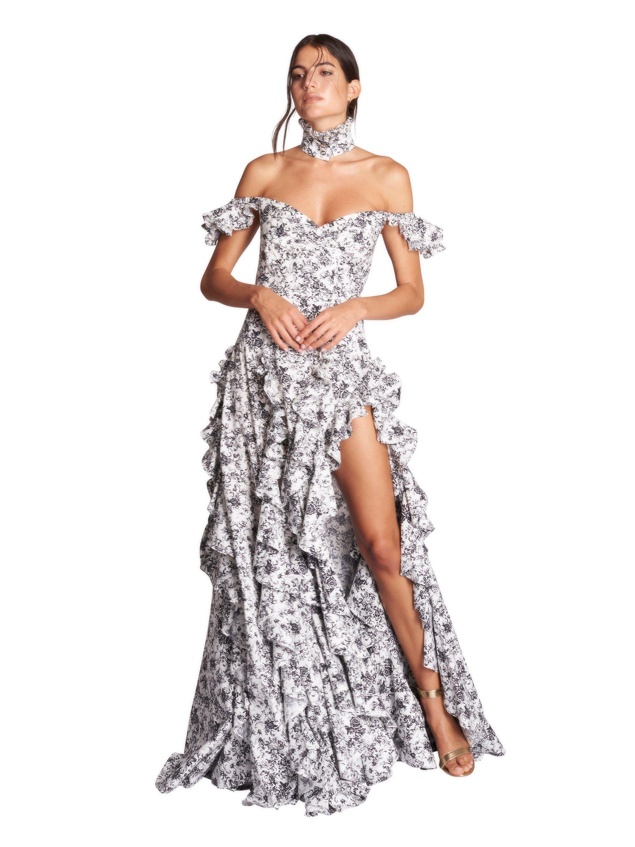 RUFFLE GOWN 1
