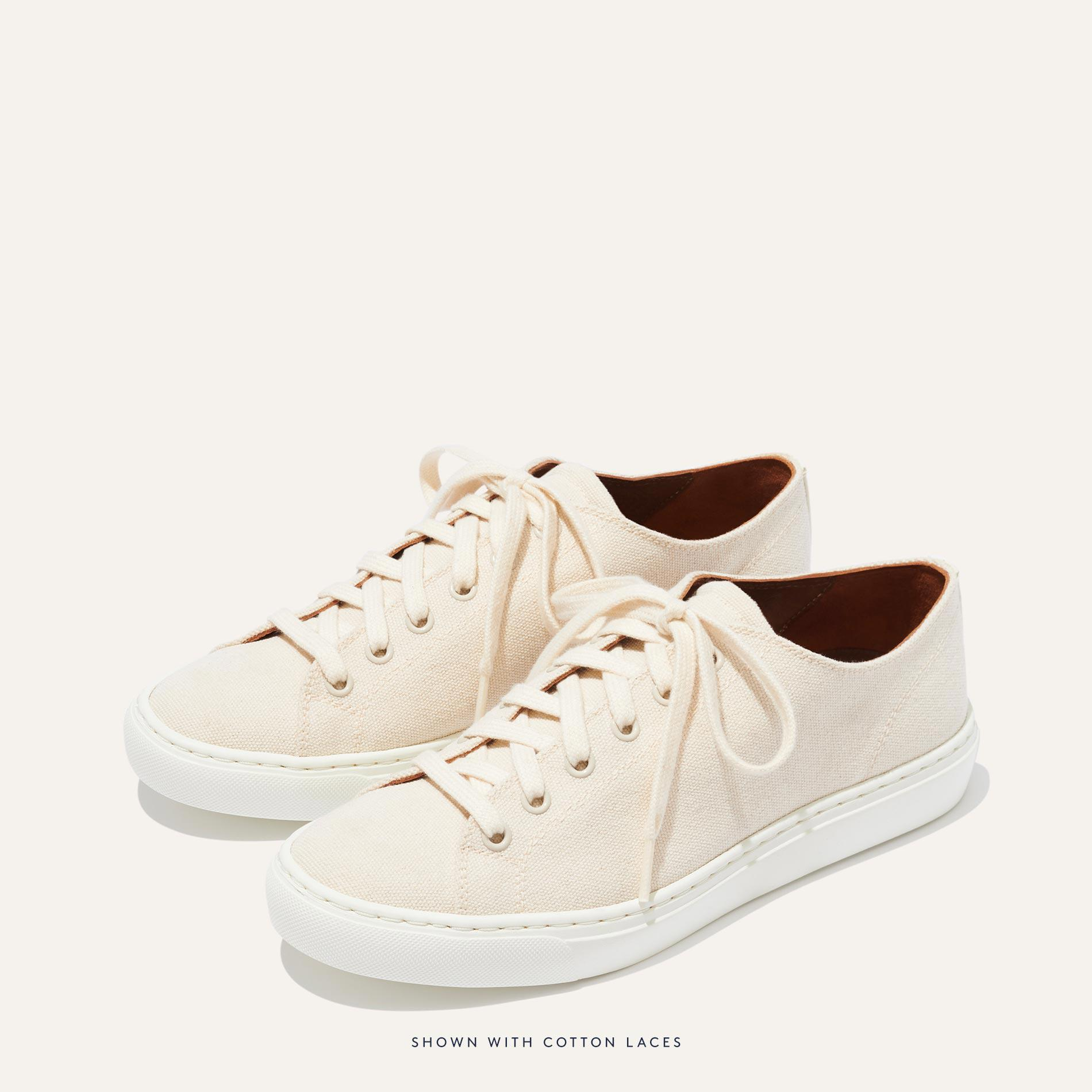 The Summer Sneaker - Ivory Canvas 1