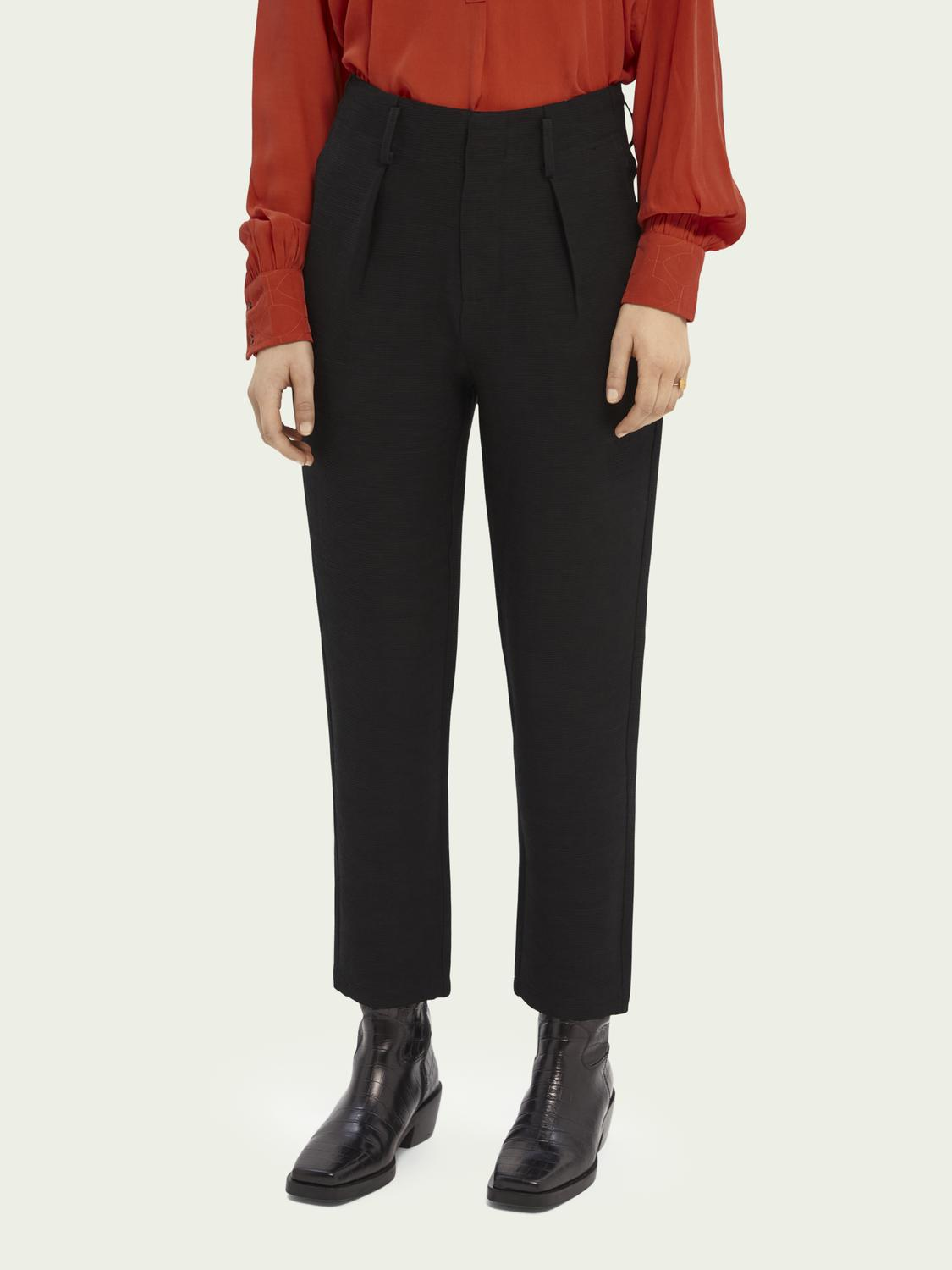 High rise tapered trousers