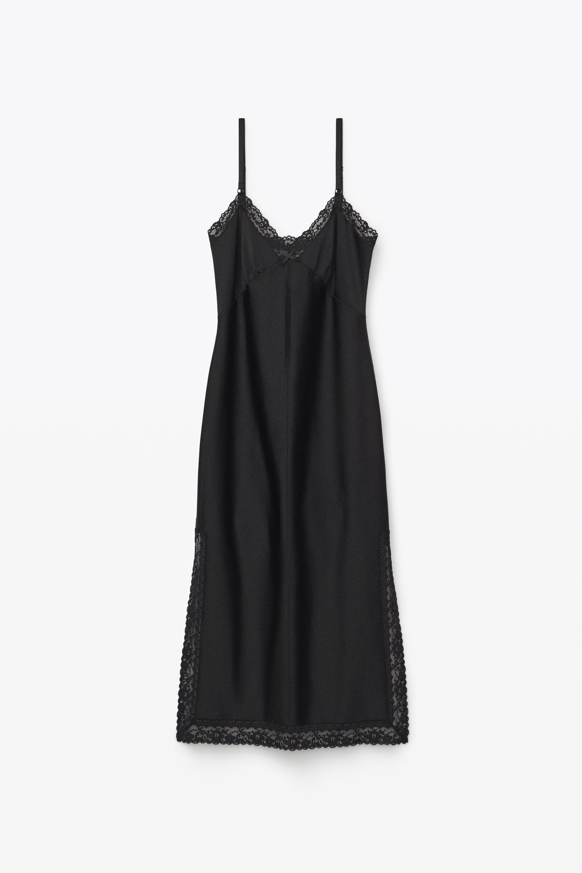 fitted slip dress 1