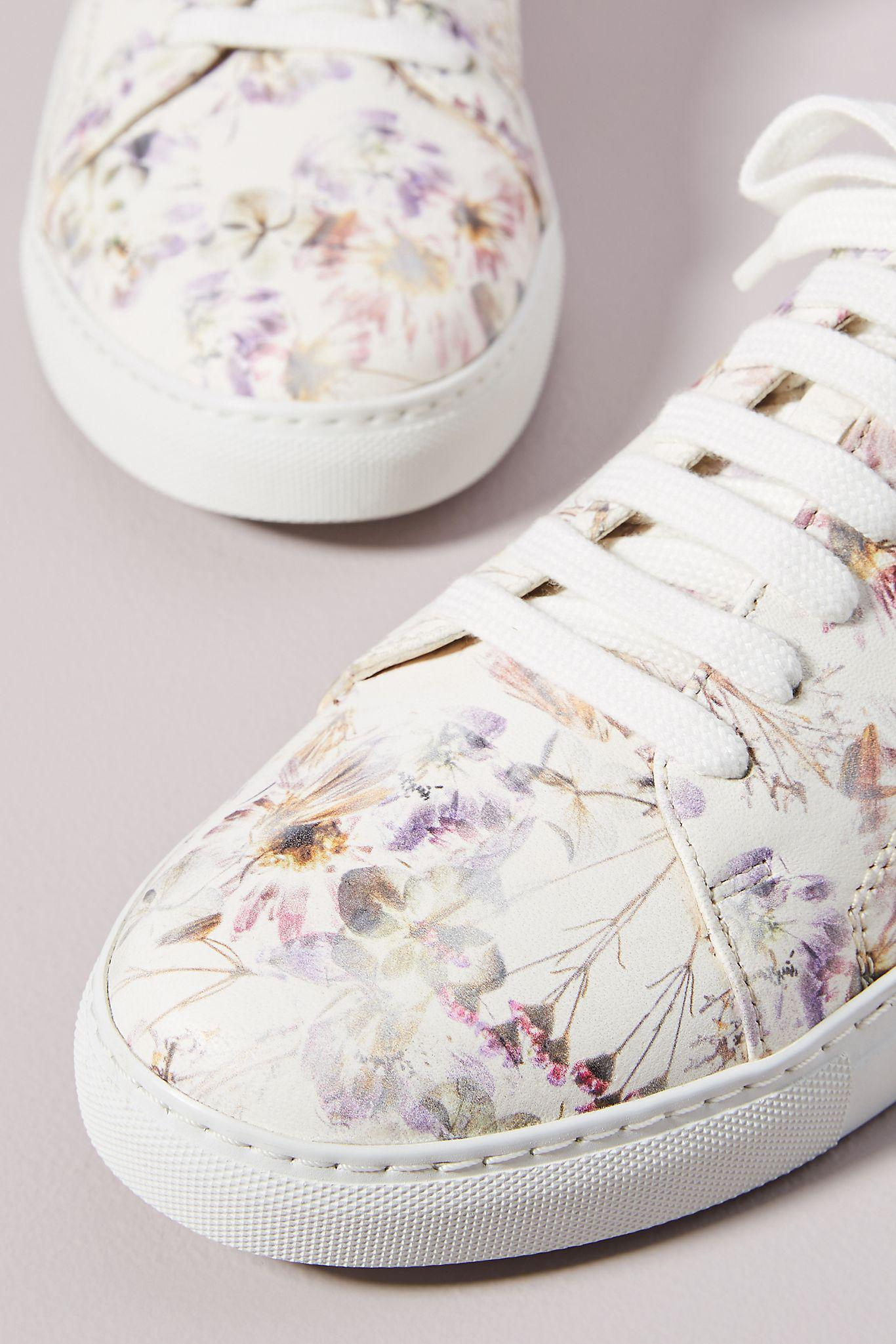 Violetta Floral Leather Sneakers 2