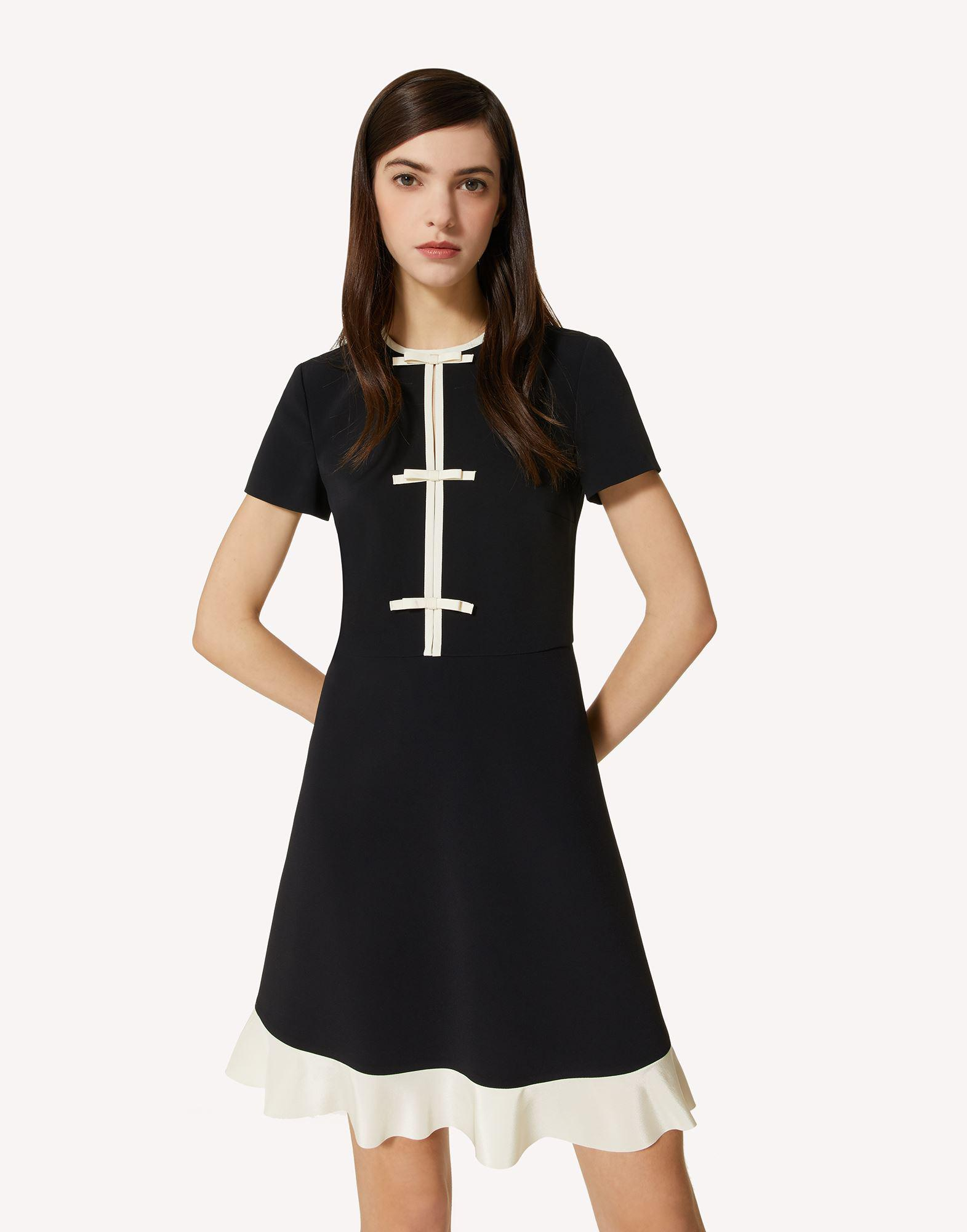 STRETCH FRISOTTINE DRESS WITH BOW DETAILS 3