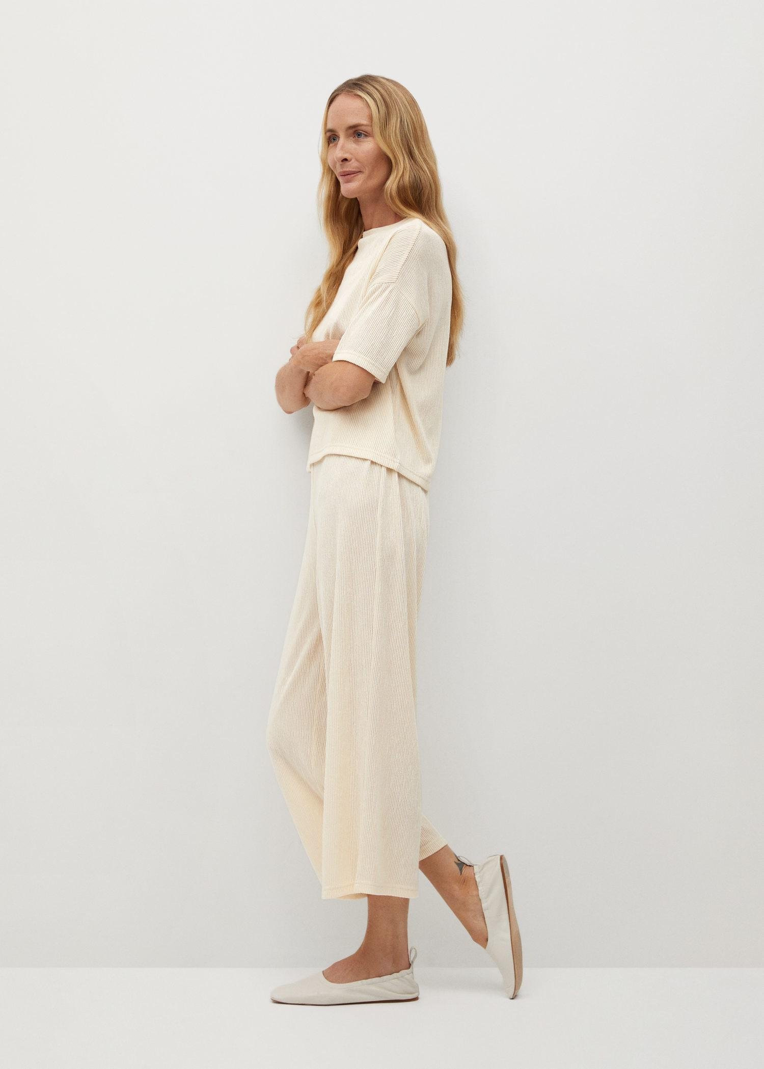 Pleated culotte trousers 1