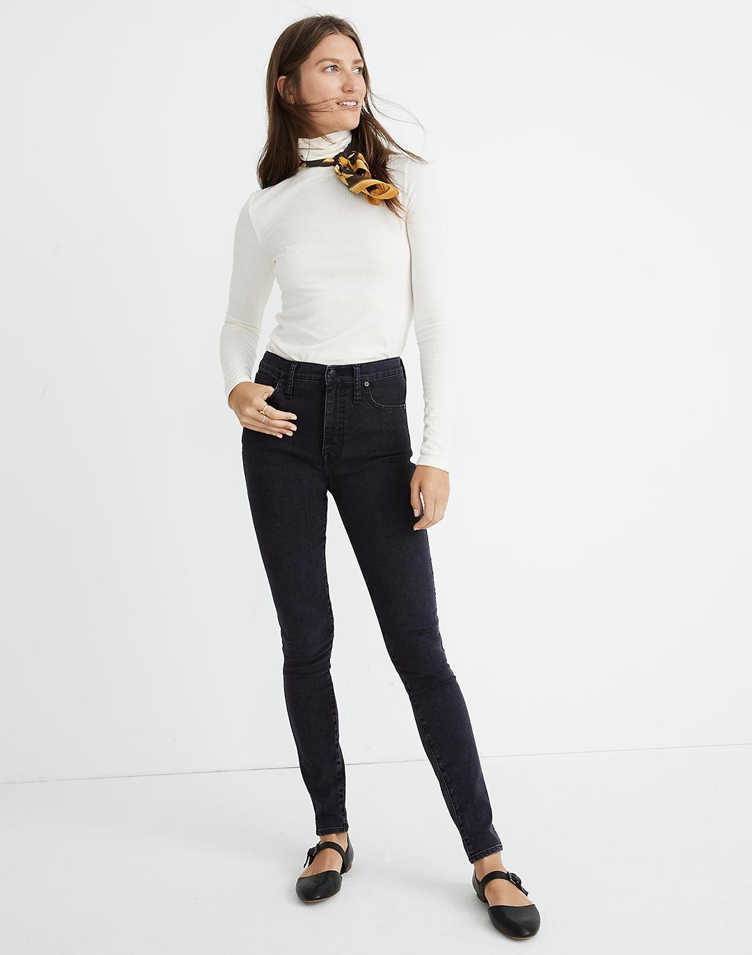 """10"""" High-Rise Skinny Jeans in Eclipse Wash"""