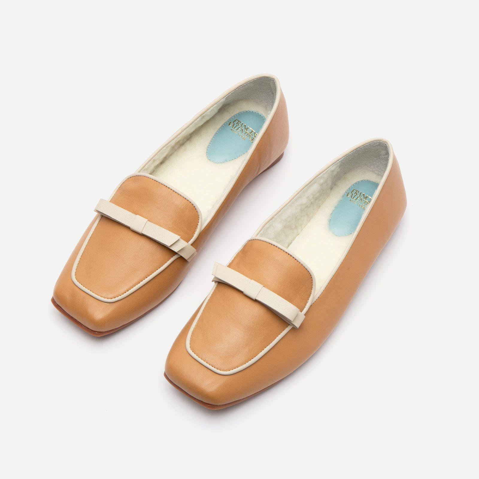 Suzanne Cozy Loafer Nappa Faux Shearling Camel 1