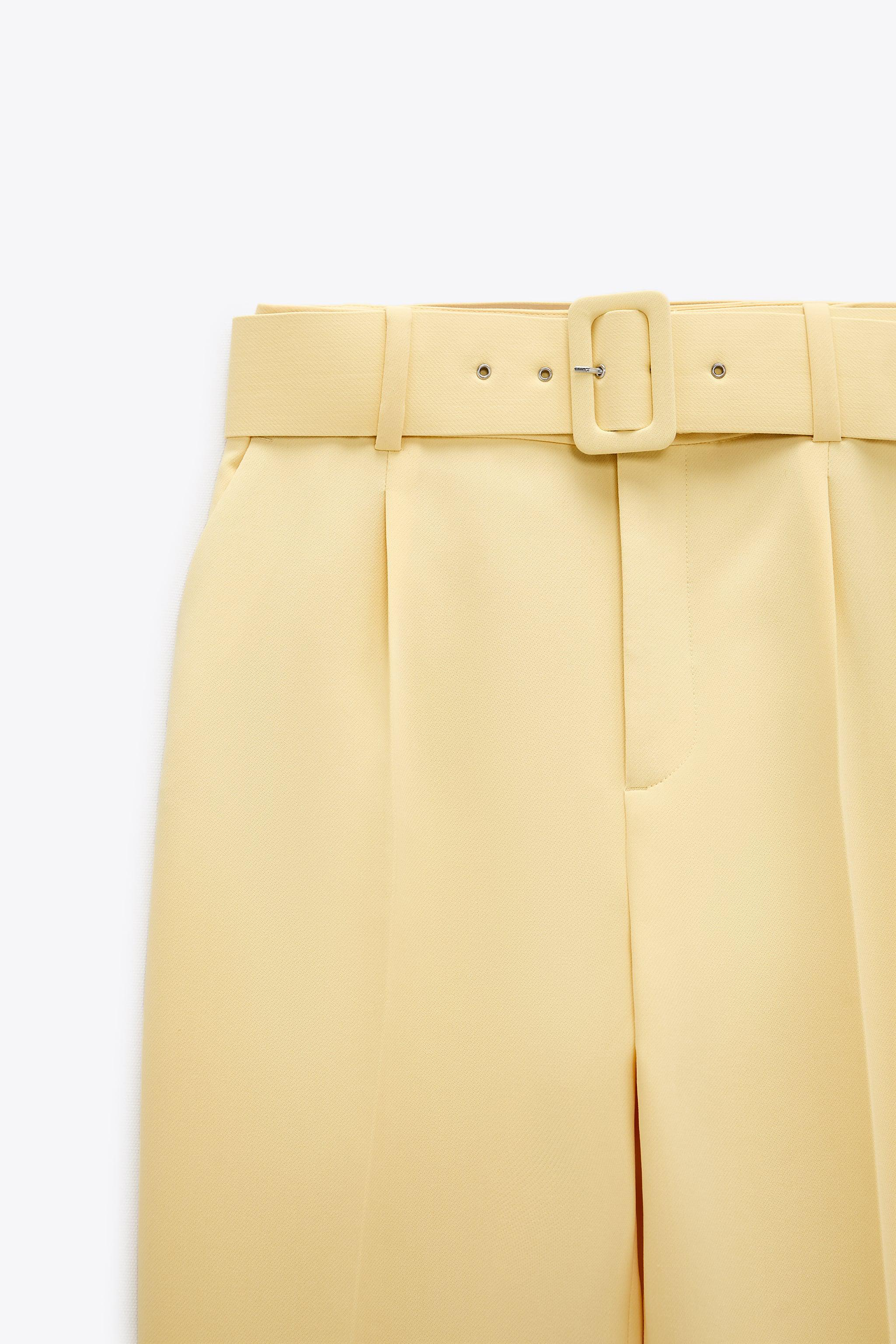 HIGH-WAISTED BELTED PANTS 8