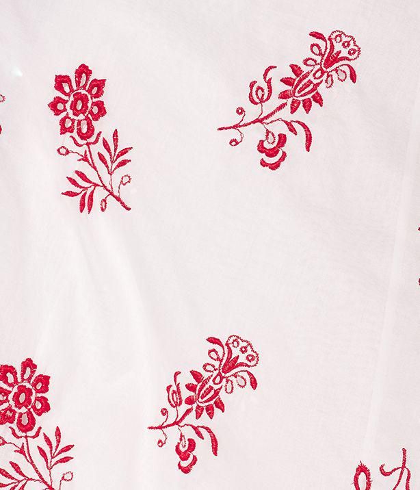 Clarimond Gown Floral Embroidered Cotton Voile 5