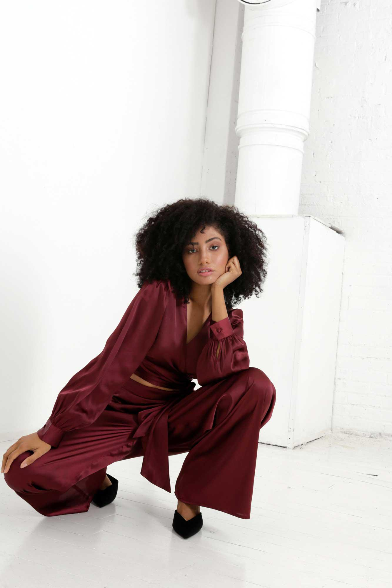 Rooibos Isa Wrap Top and Dora Pants Two Piece Set