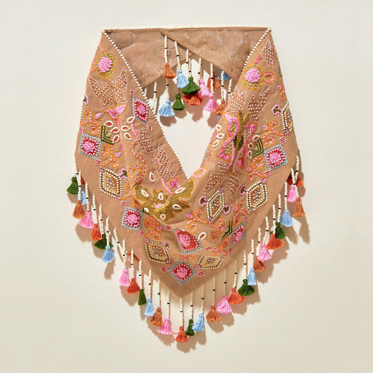 Hollis Scarf Necklace Neutral Combo