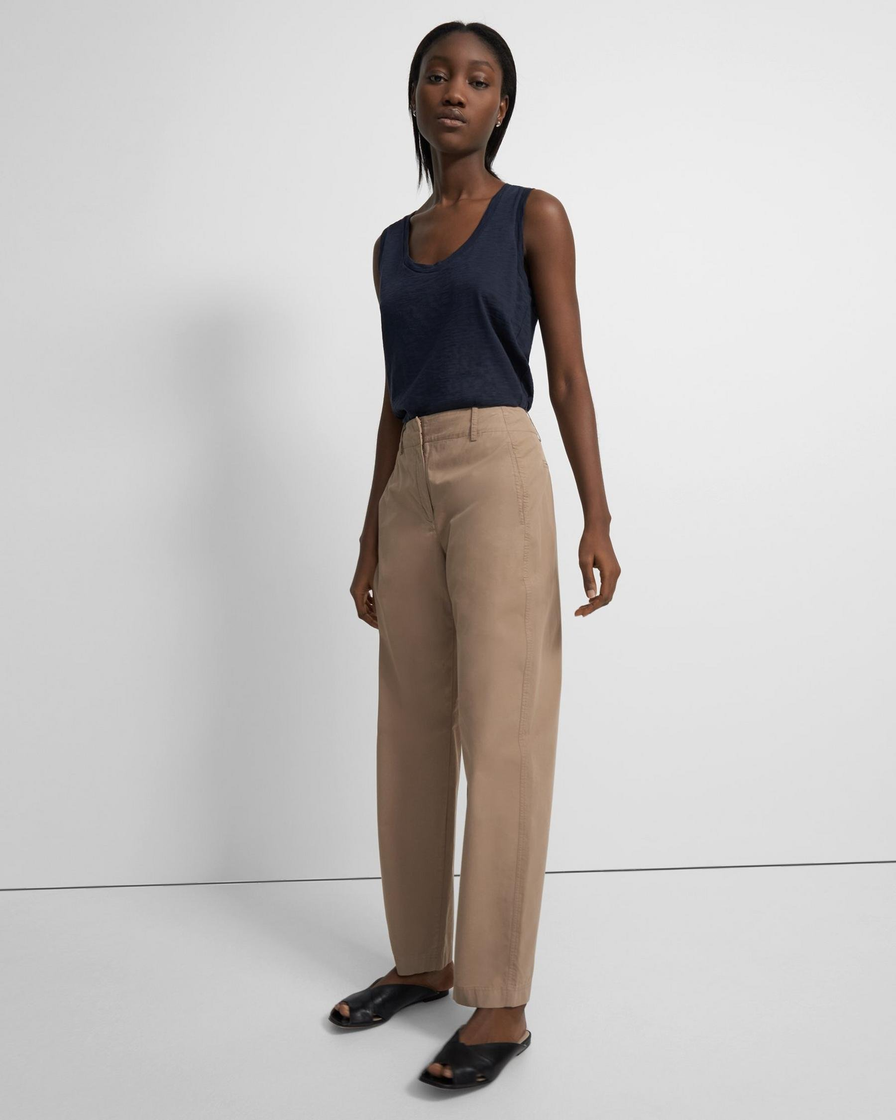 Curve Pant in Garment-Dyed Cotton 0
