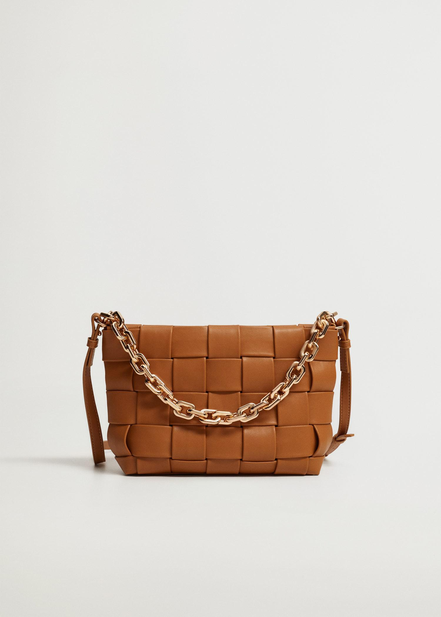 Braided bag with chain