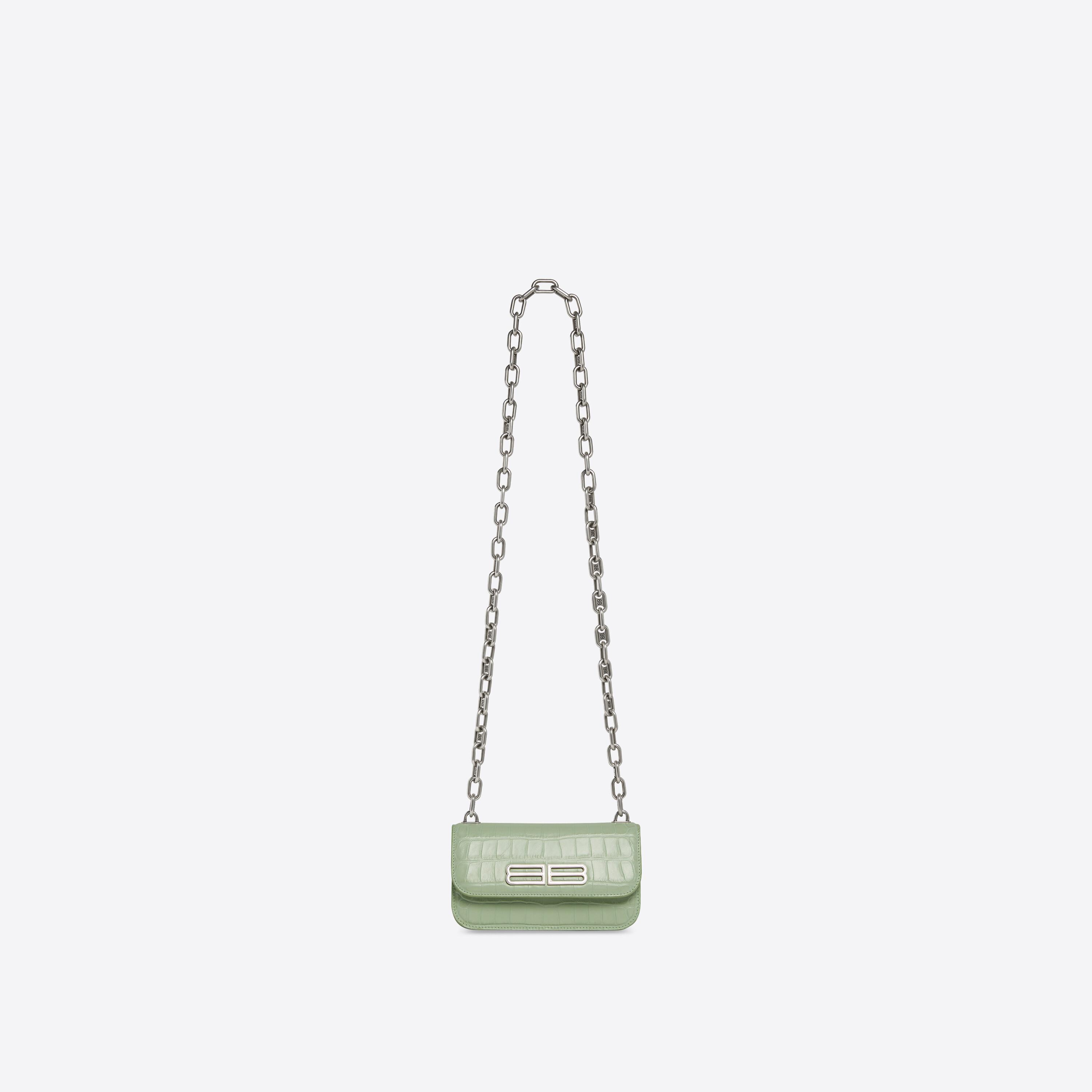 Gossip XS Bag With Chain In Extra Supple Crocodile Embossed Calfskin