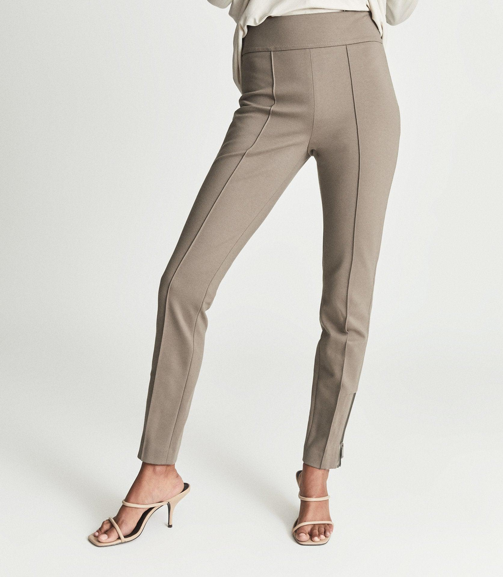 ISLA - PONTE TROUSERS WITH ZIP DETAIL 1