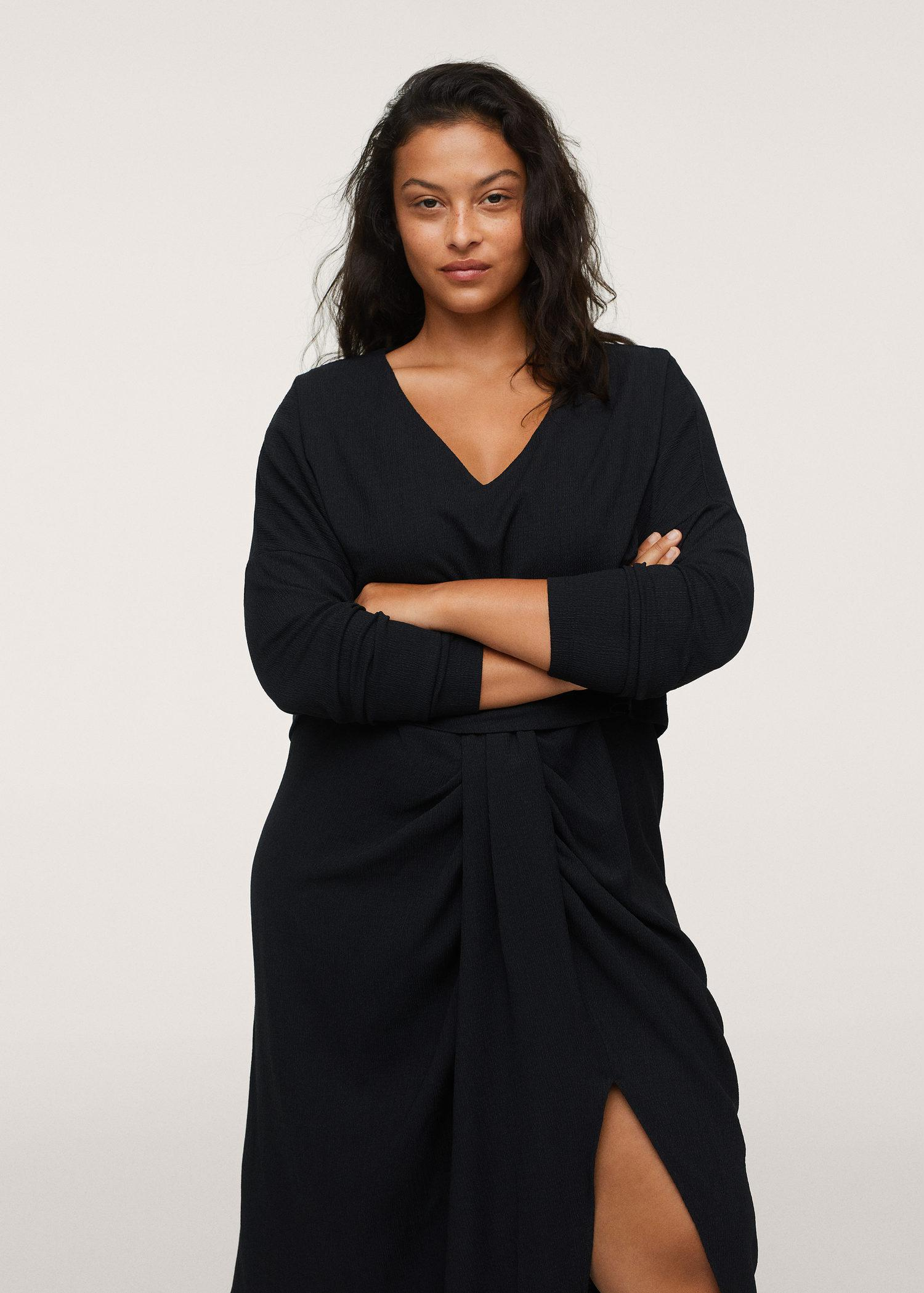 Cut-out ruched dress