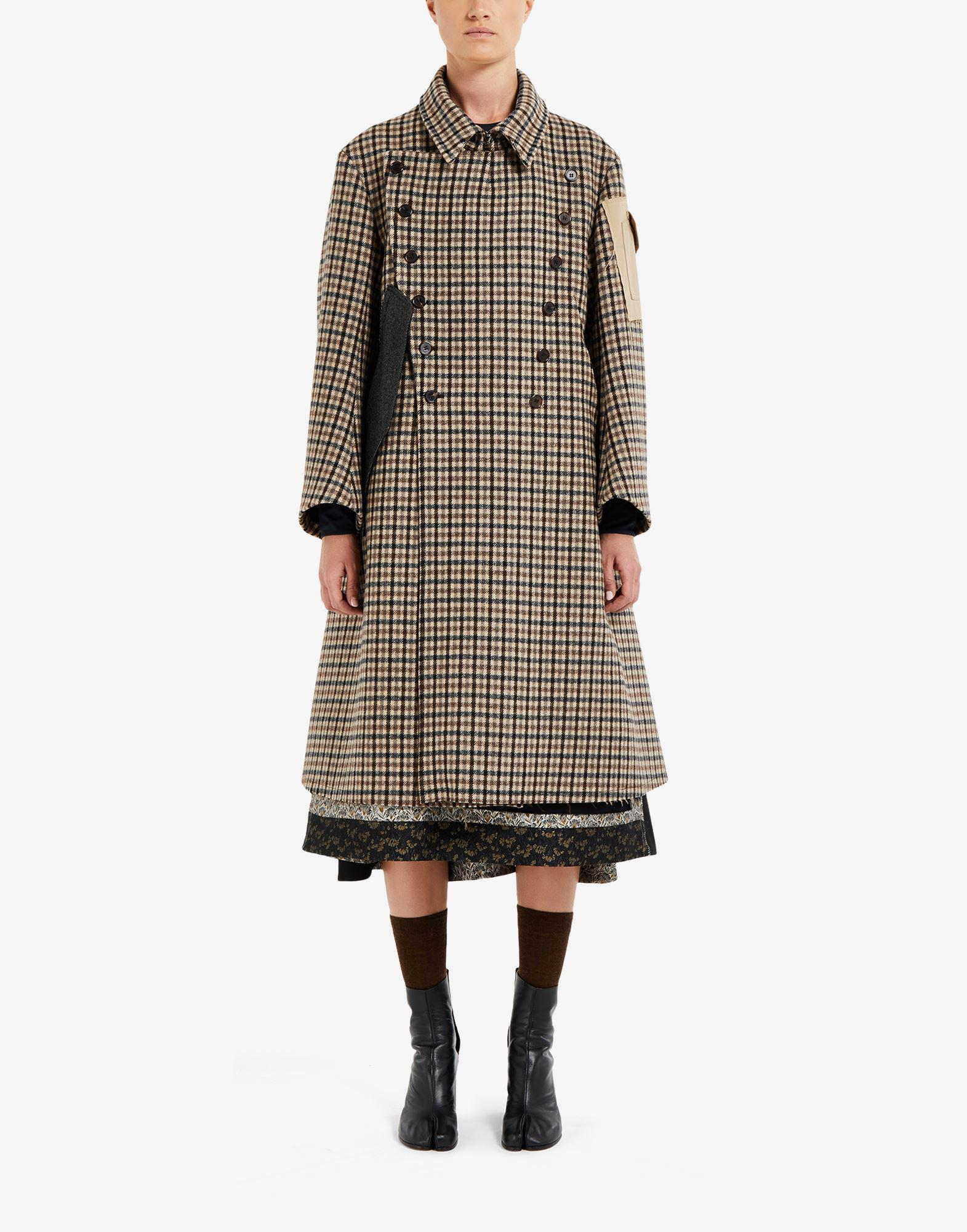 'Memory of' check trench coat 0